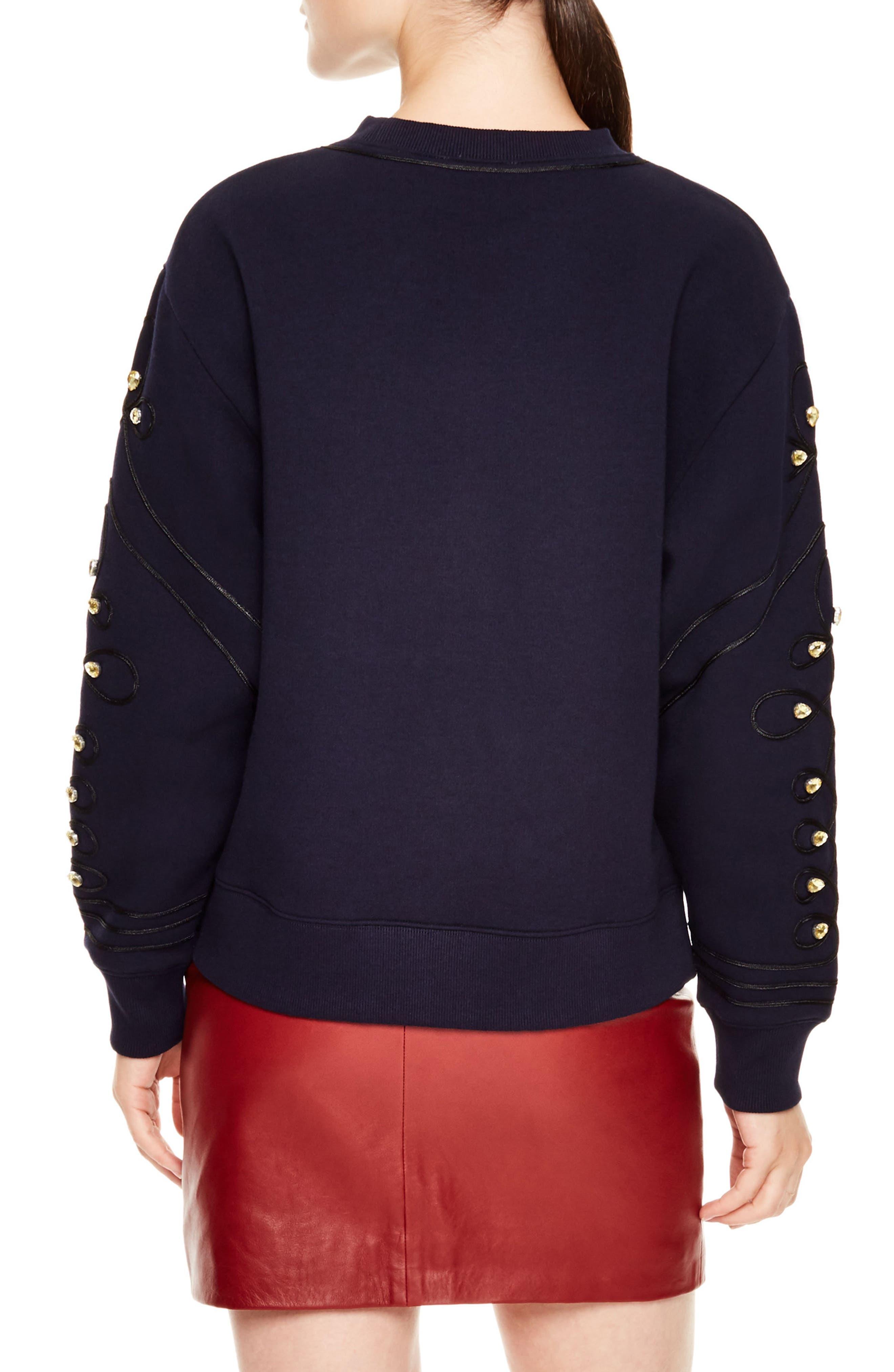 Embellished Sweatshirt,                             Alternate thumbnail 2, color,                             400