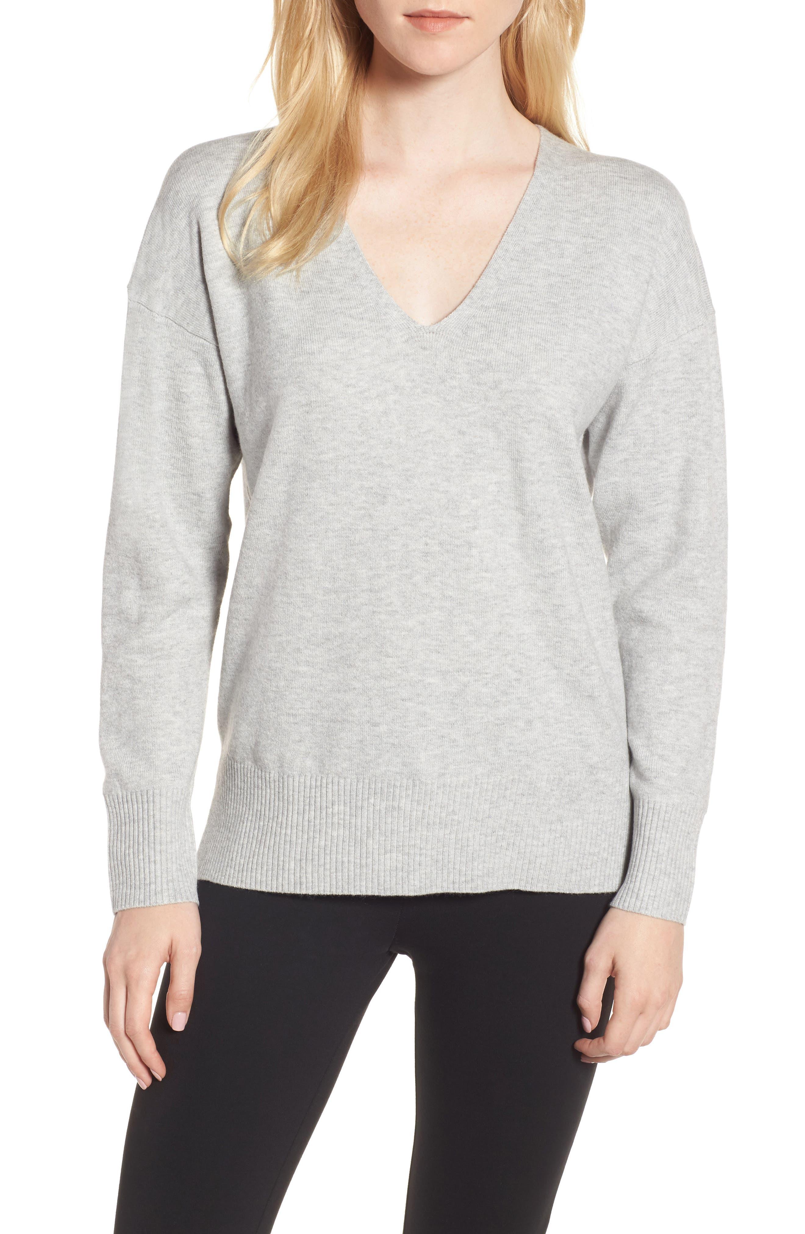 Della Vhari V-Neck Sweater,                             Main thumbnail 1, color,                             050