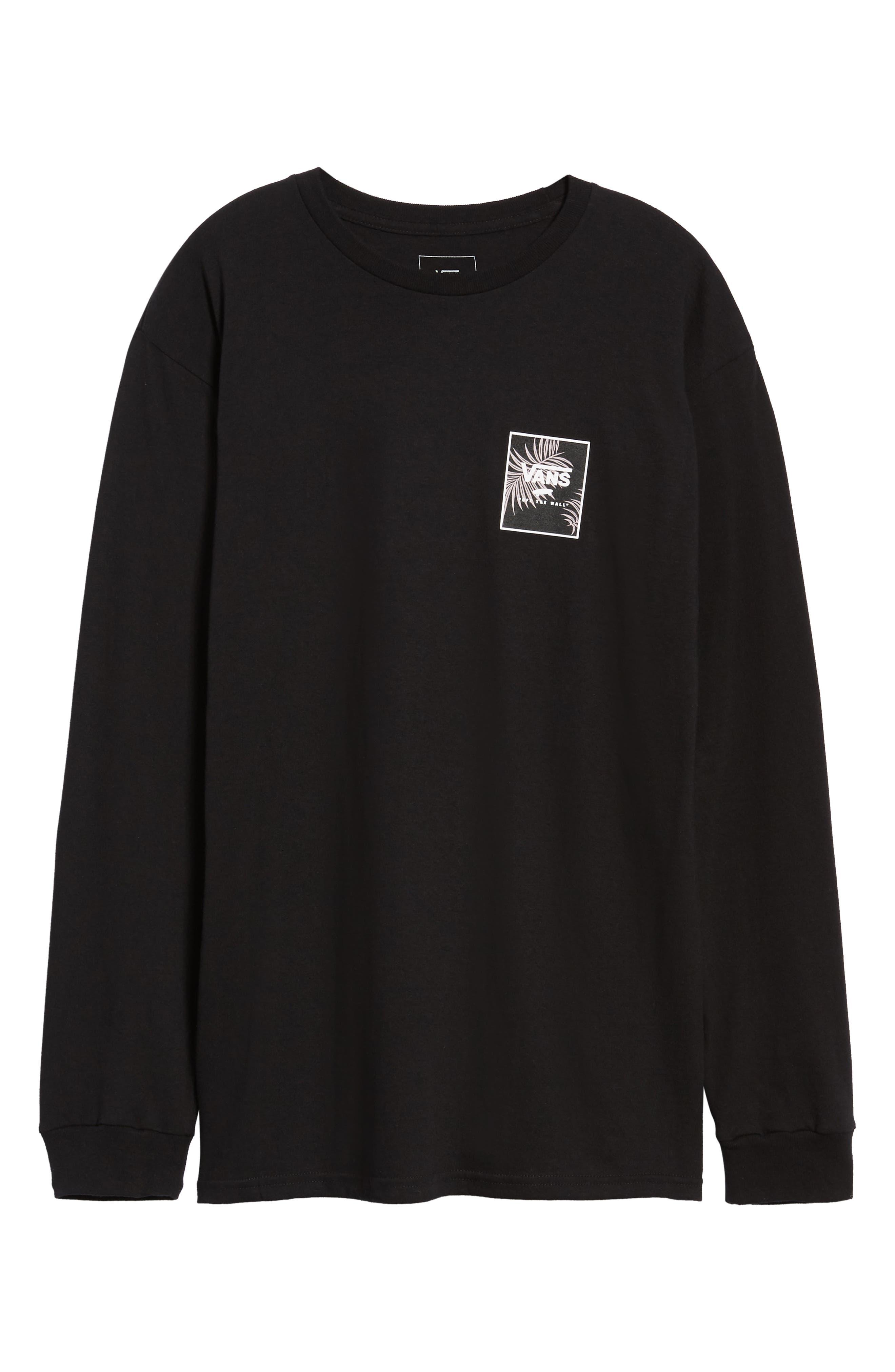 Print Box Long Sleeve Graphic T-Shirt,                             Alternate thumbnail 6, color,                             001