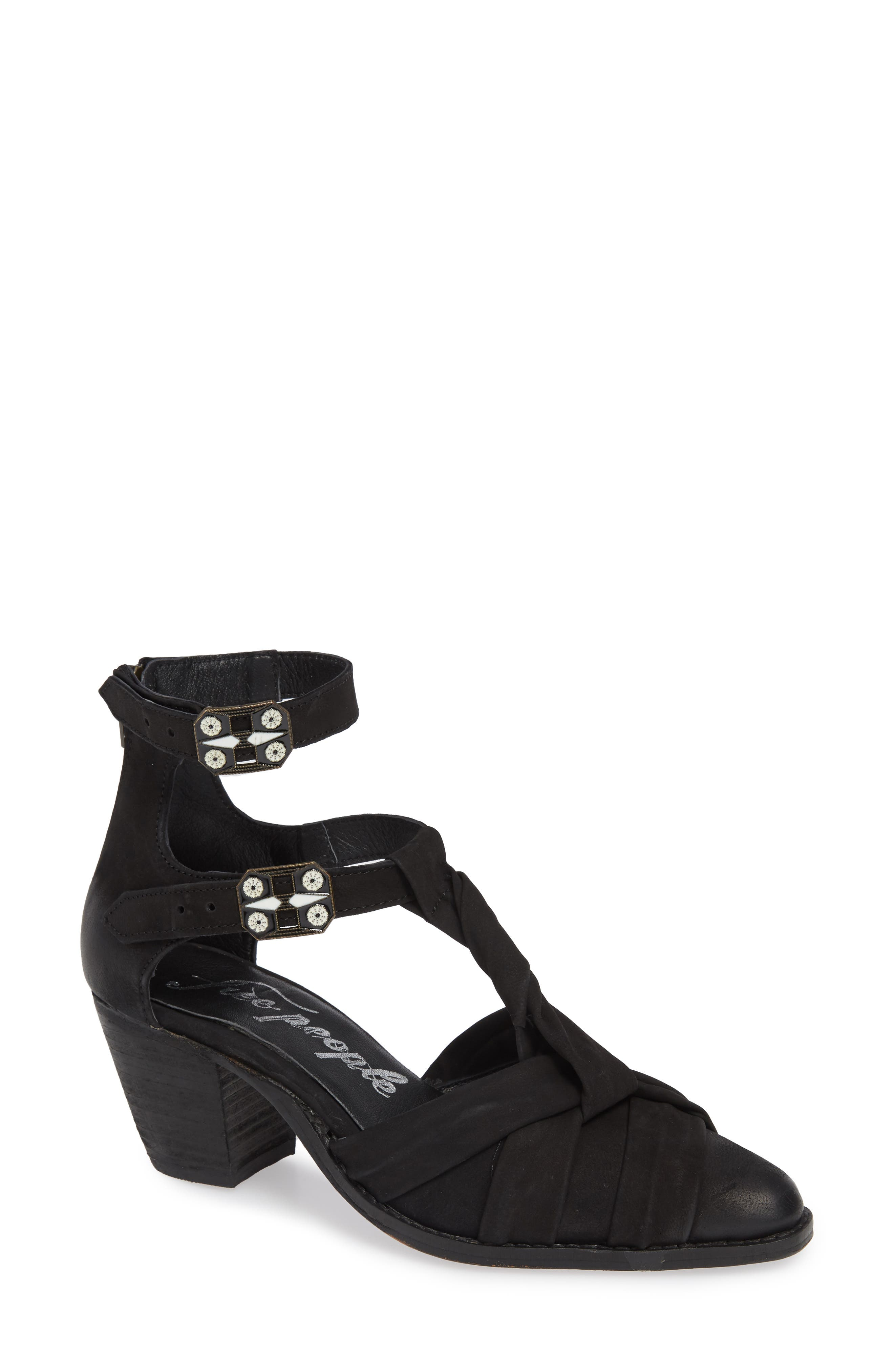 Free People Canosa Cutout Bootie, Black