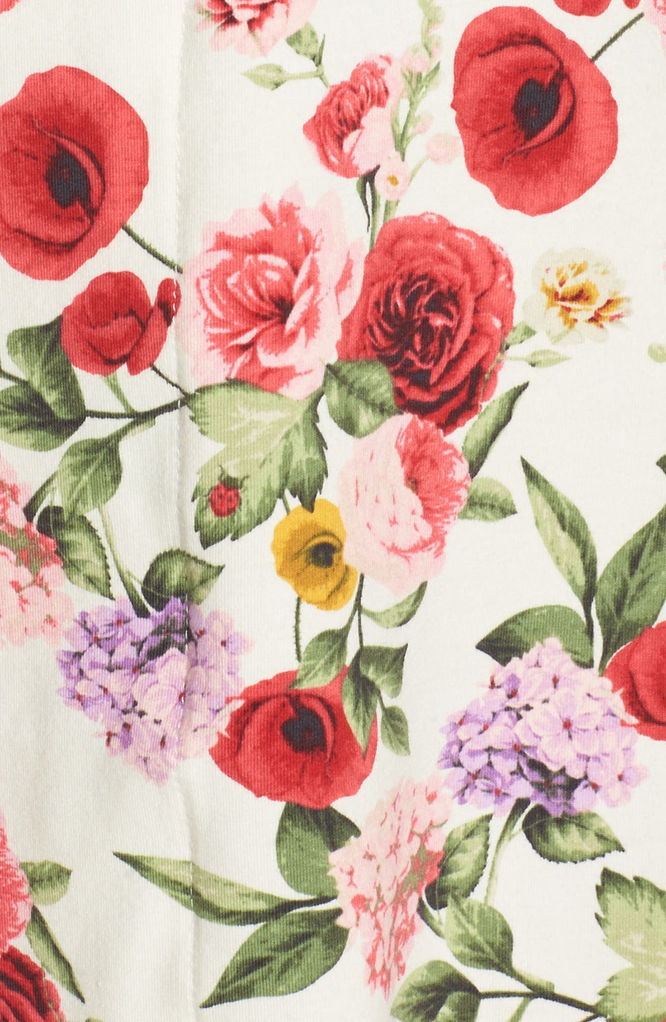 Flower Print Pajamas,                             Alternate thumbnail 5, color,