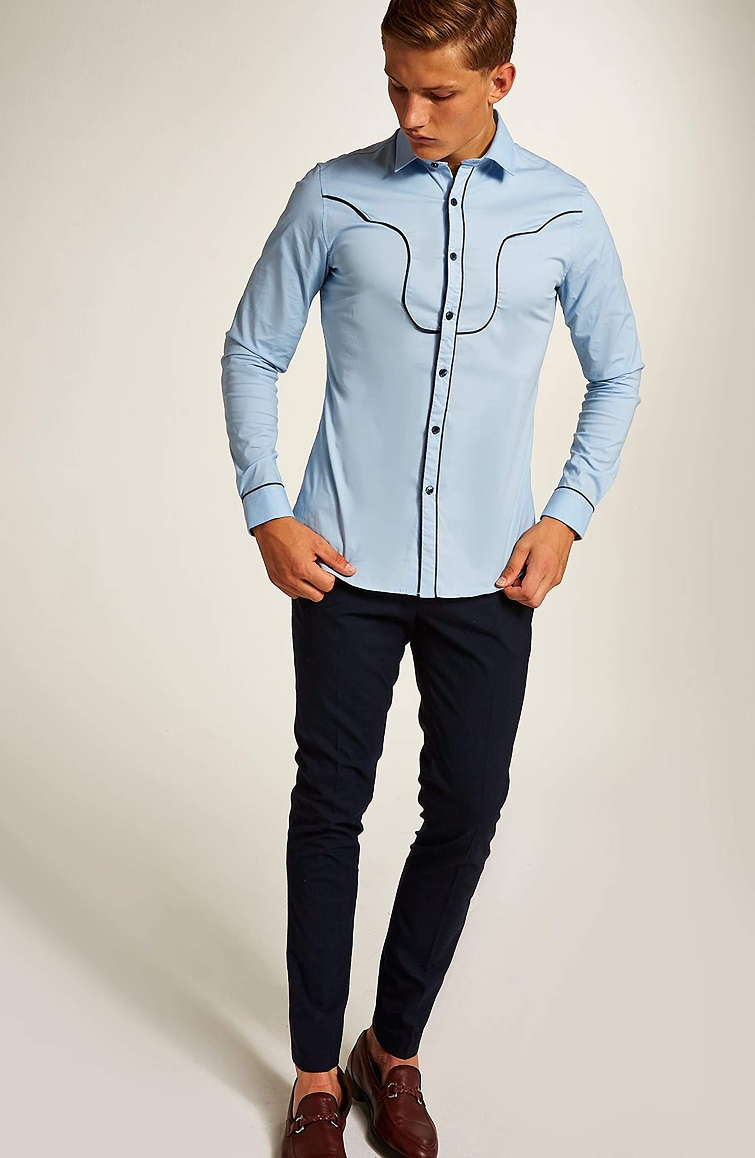 Classic Fit Western Sport Shirt,                             Alternate thumbnail 5, color,                             450