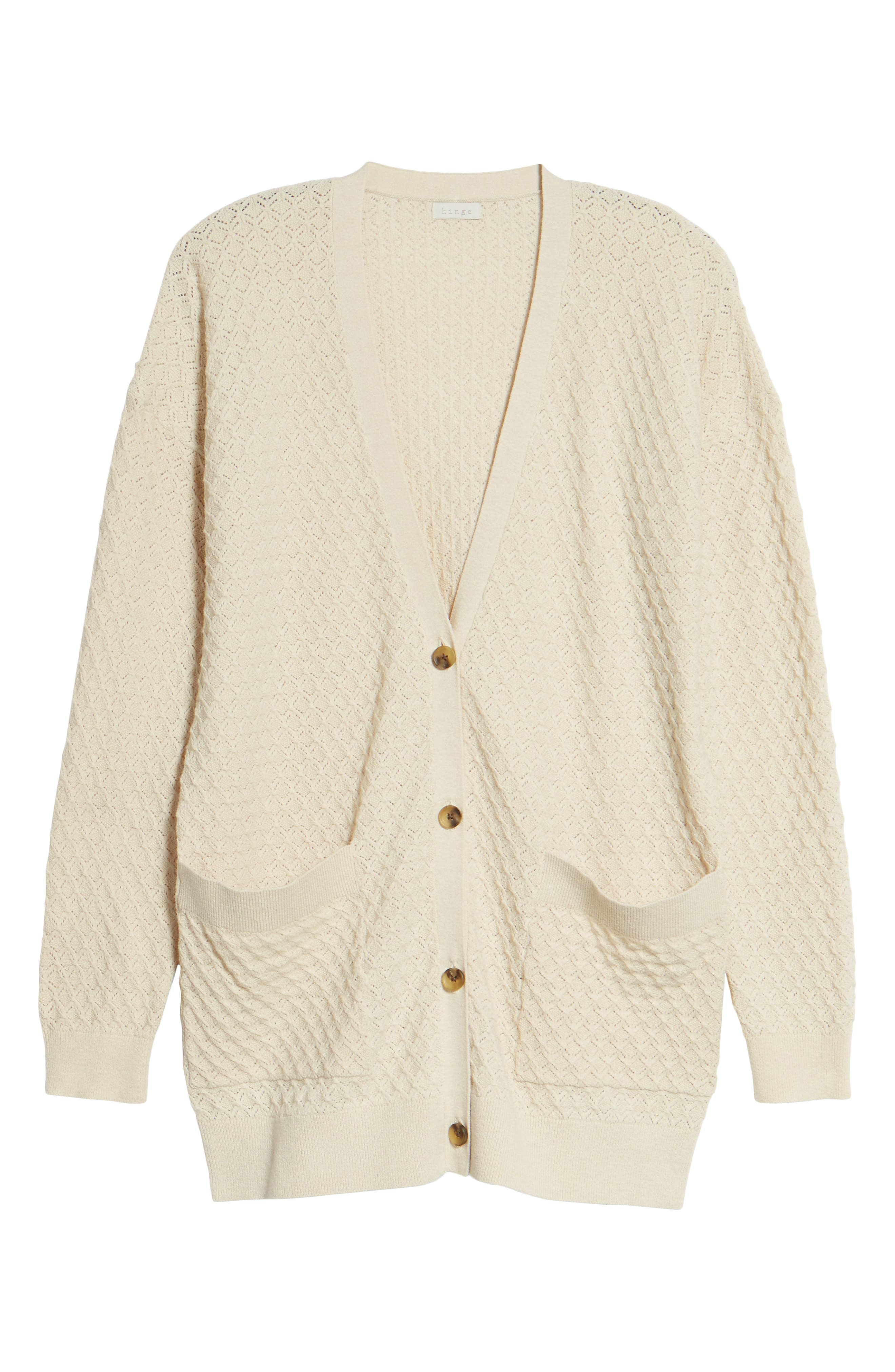 Pointelle Cardigan Sweater,                             Alternate thumbnail 22, color,