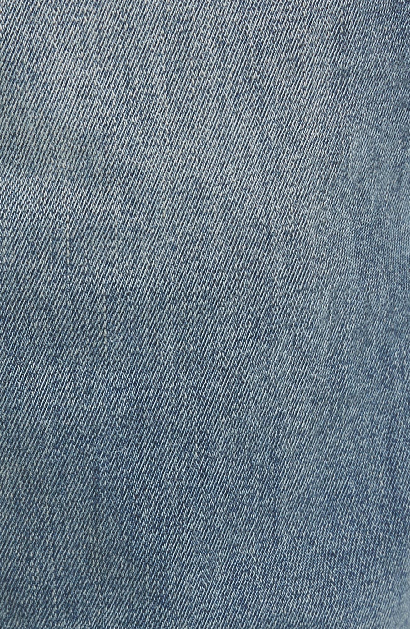 Snap Skinny Fit Jeans,                             Alternate thumbnail 5, color,                             LIGHT OLD DESTROY