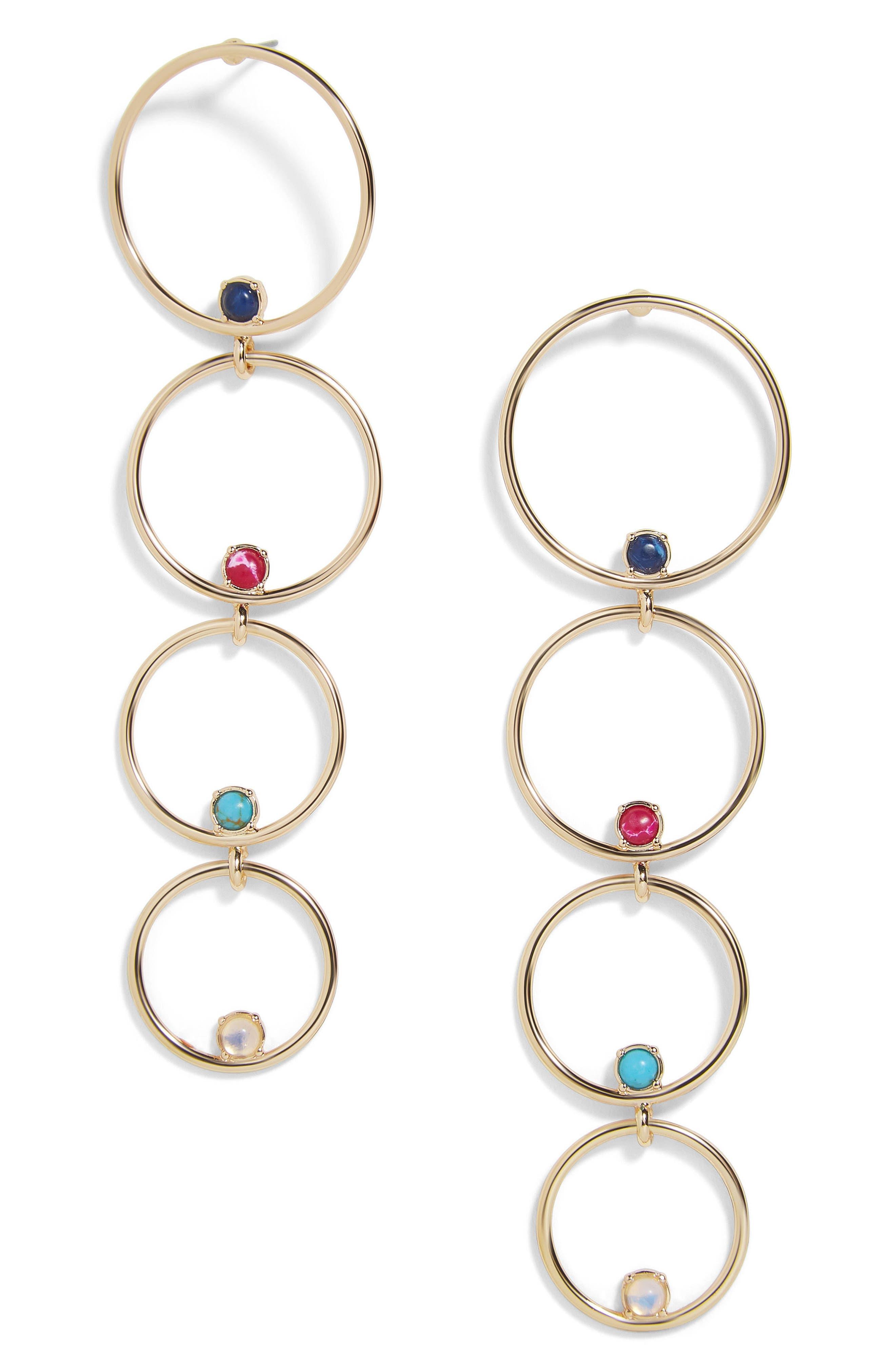 Lucienne Hoop Earrings,                             Main thumbnail 1, color,                             710
