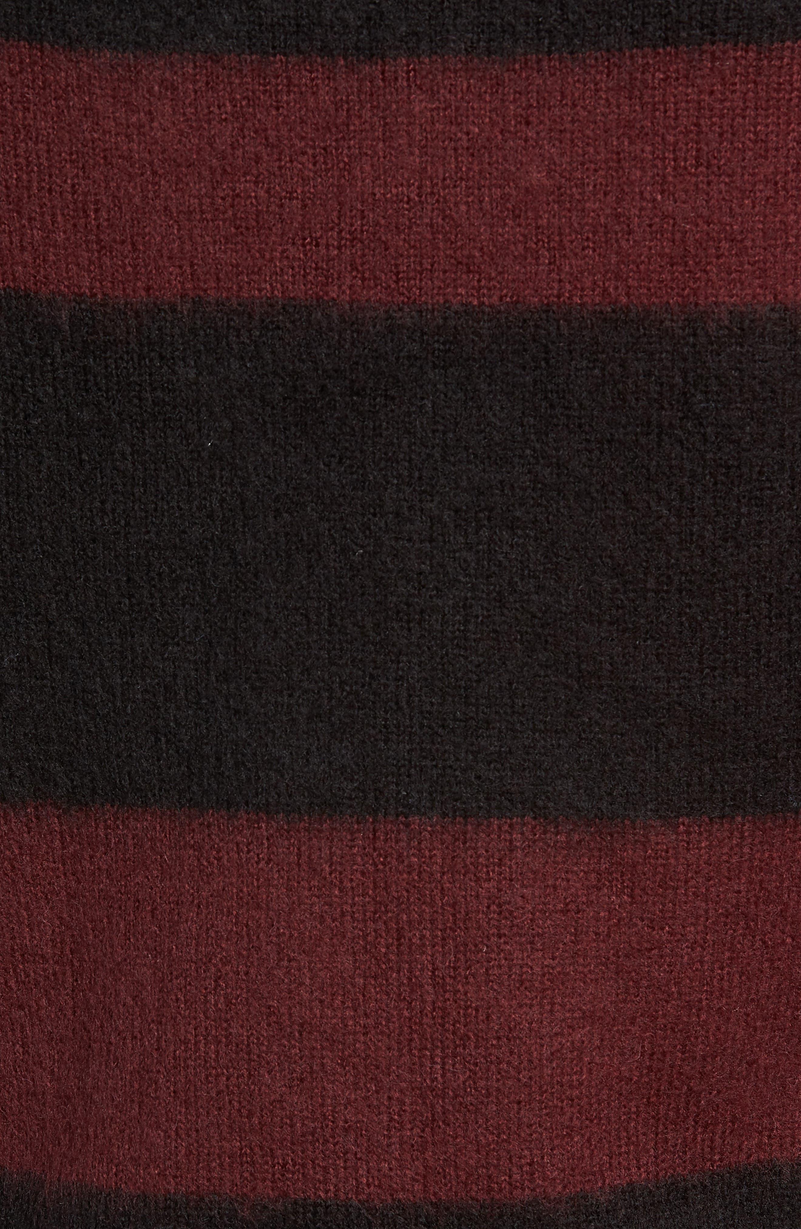 Colorblock Sweater,                             Alternate thumbnail 5, color,                             BLACK