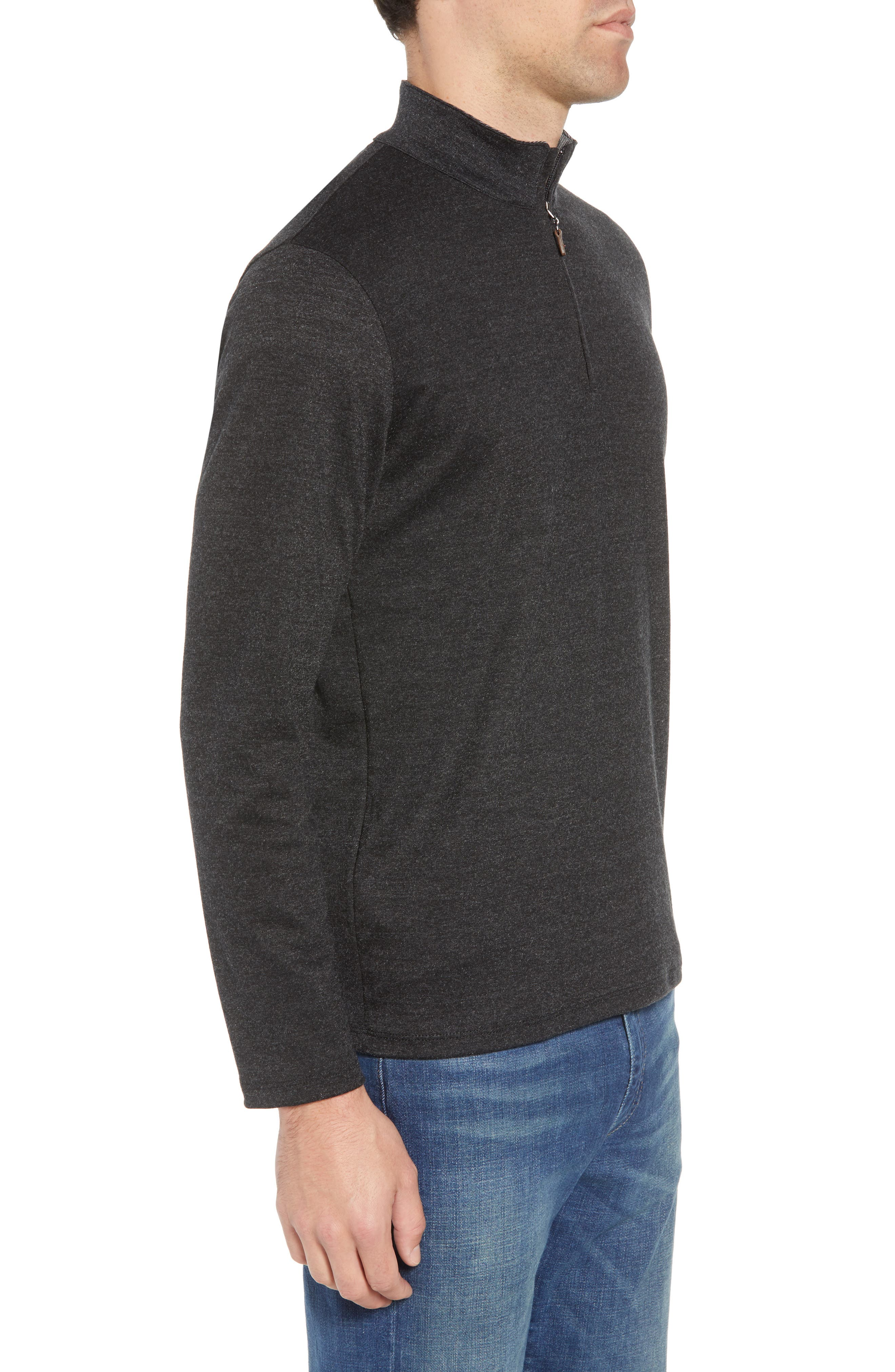 North Mock Neck Pullover,                             Alternate thumbnail 3, color,                             NORTH GREY