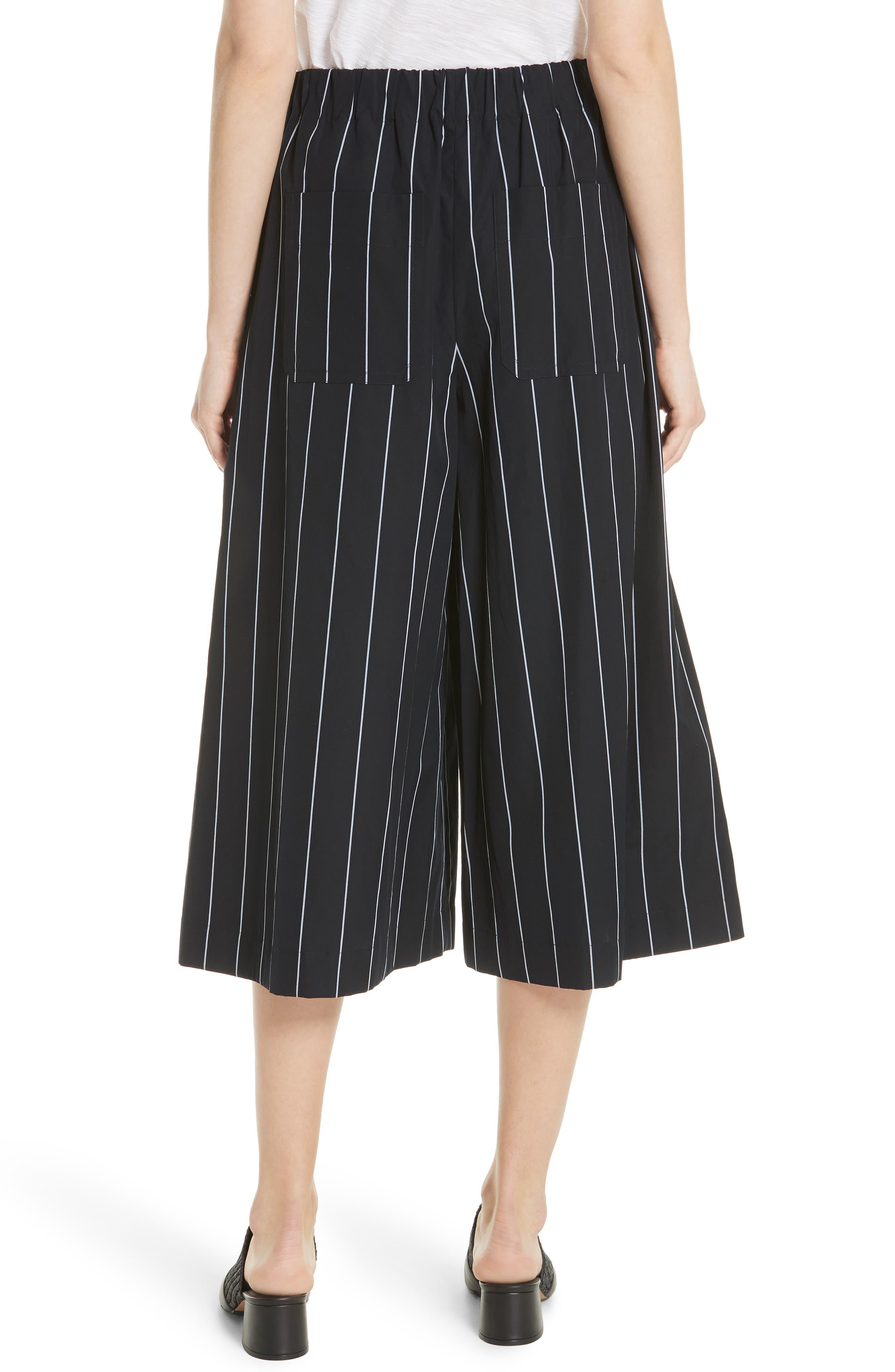 Stripe Cotton Culottes,                             Alternate thumbnail 2, color,