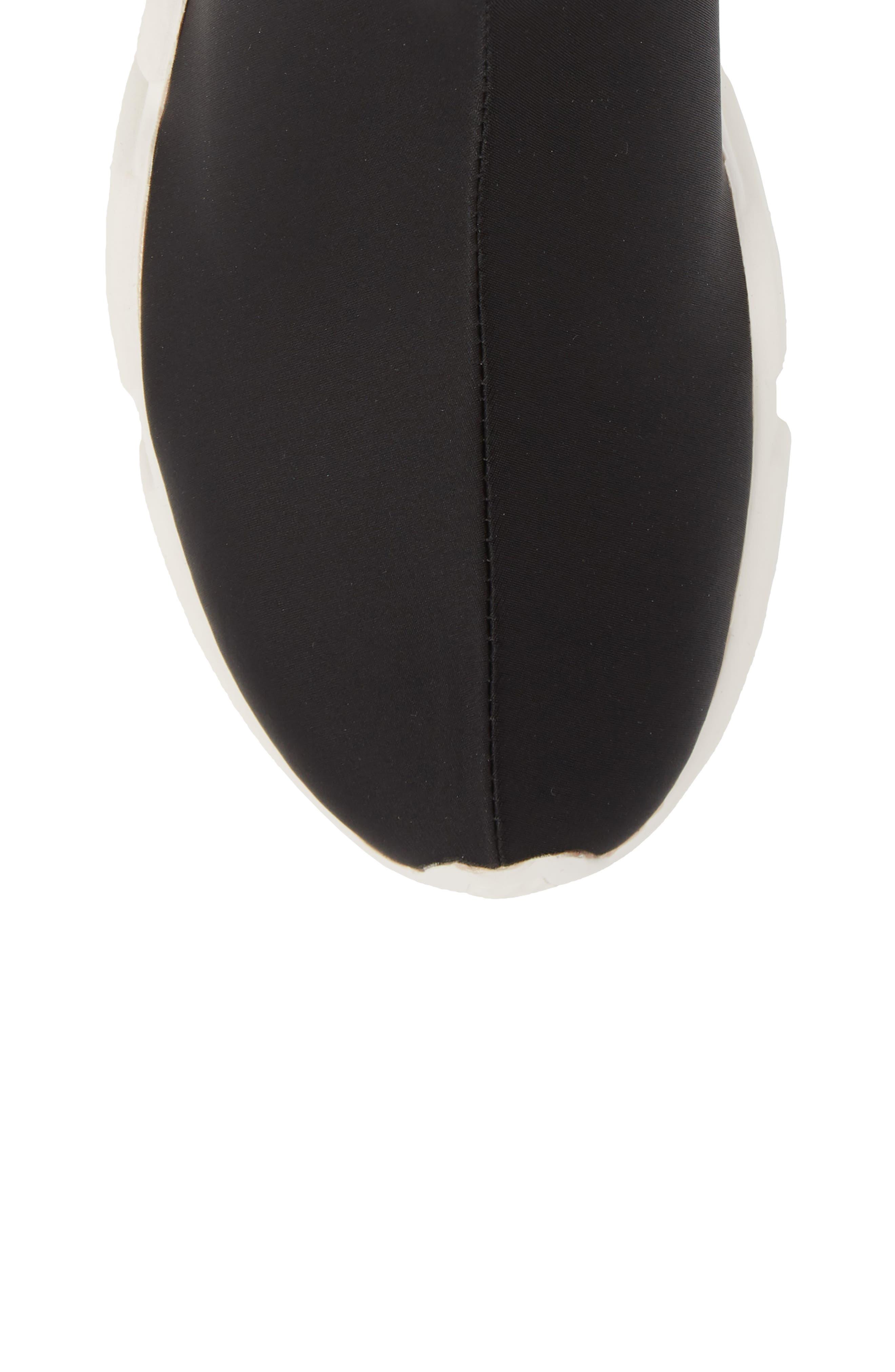 Sock Sneaker,                             Alternate thumbnail 5, color,                             BLACK / WHITE