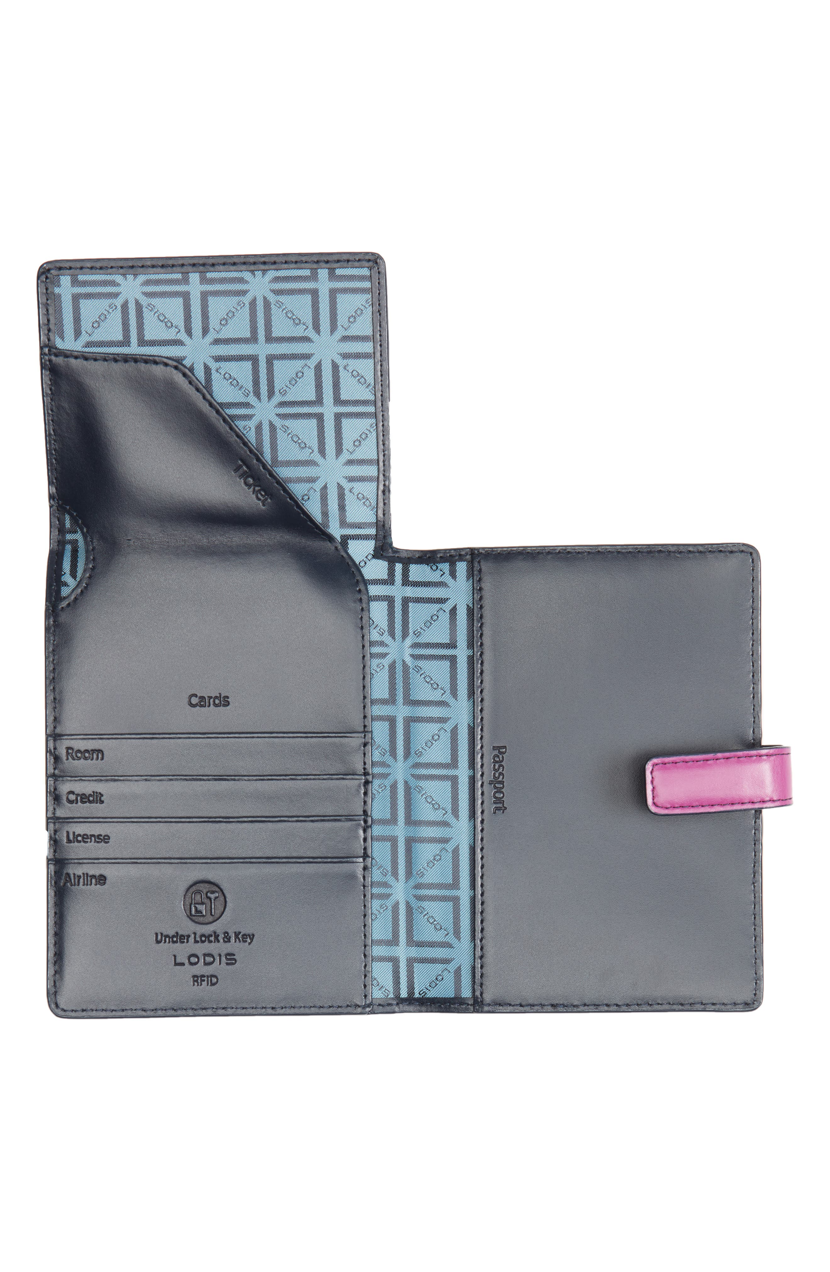 Audrey RFID Leather Passport Wallet,                             Alternate thumbnail 11, color,