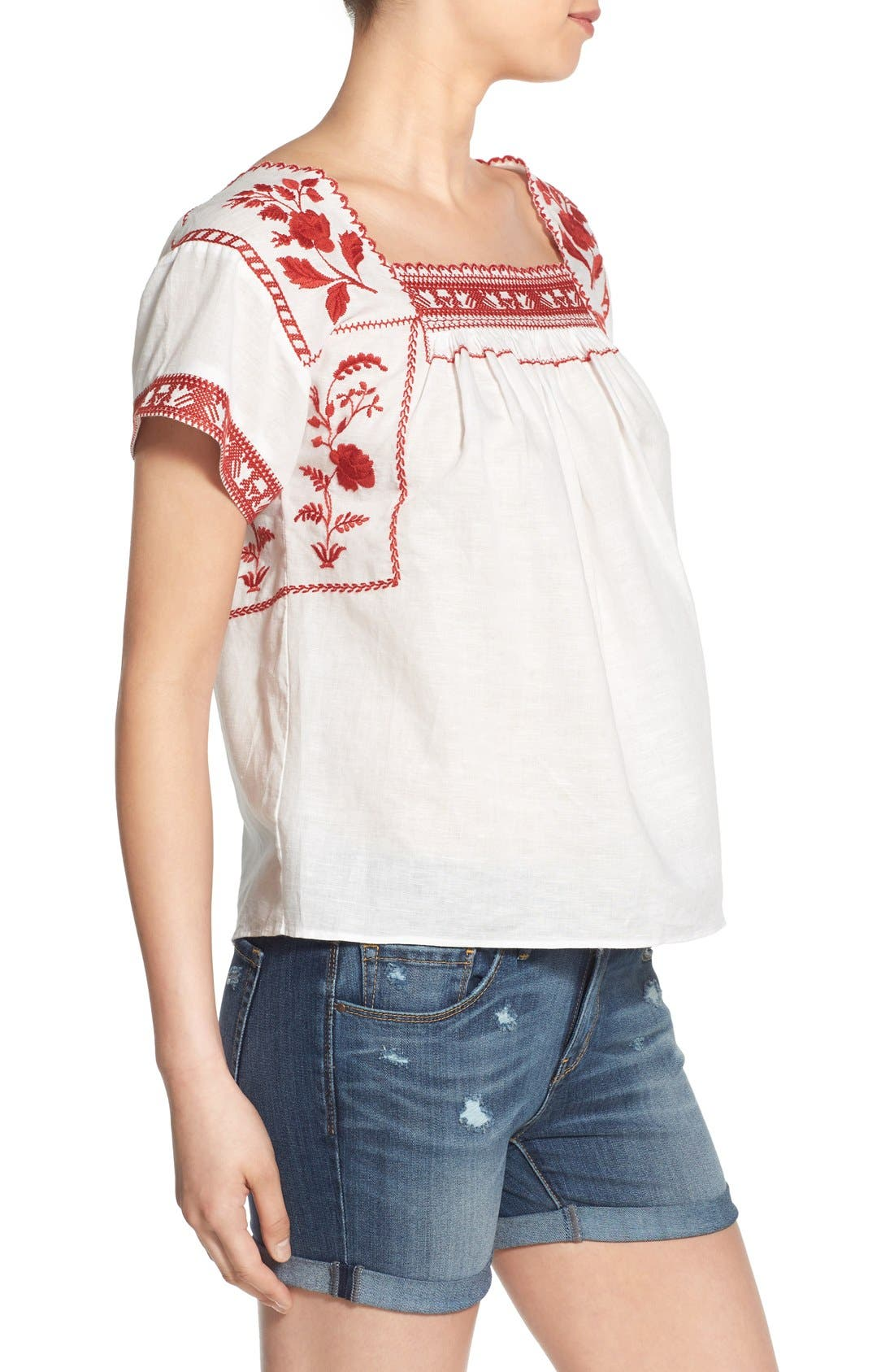 Wildfield Embroidered Top,                             Alternate thumbnail 4, color,