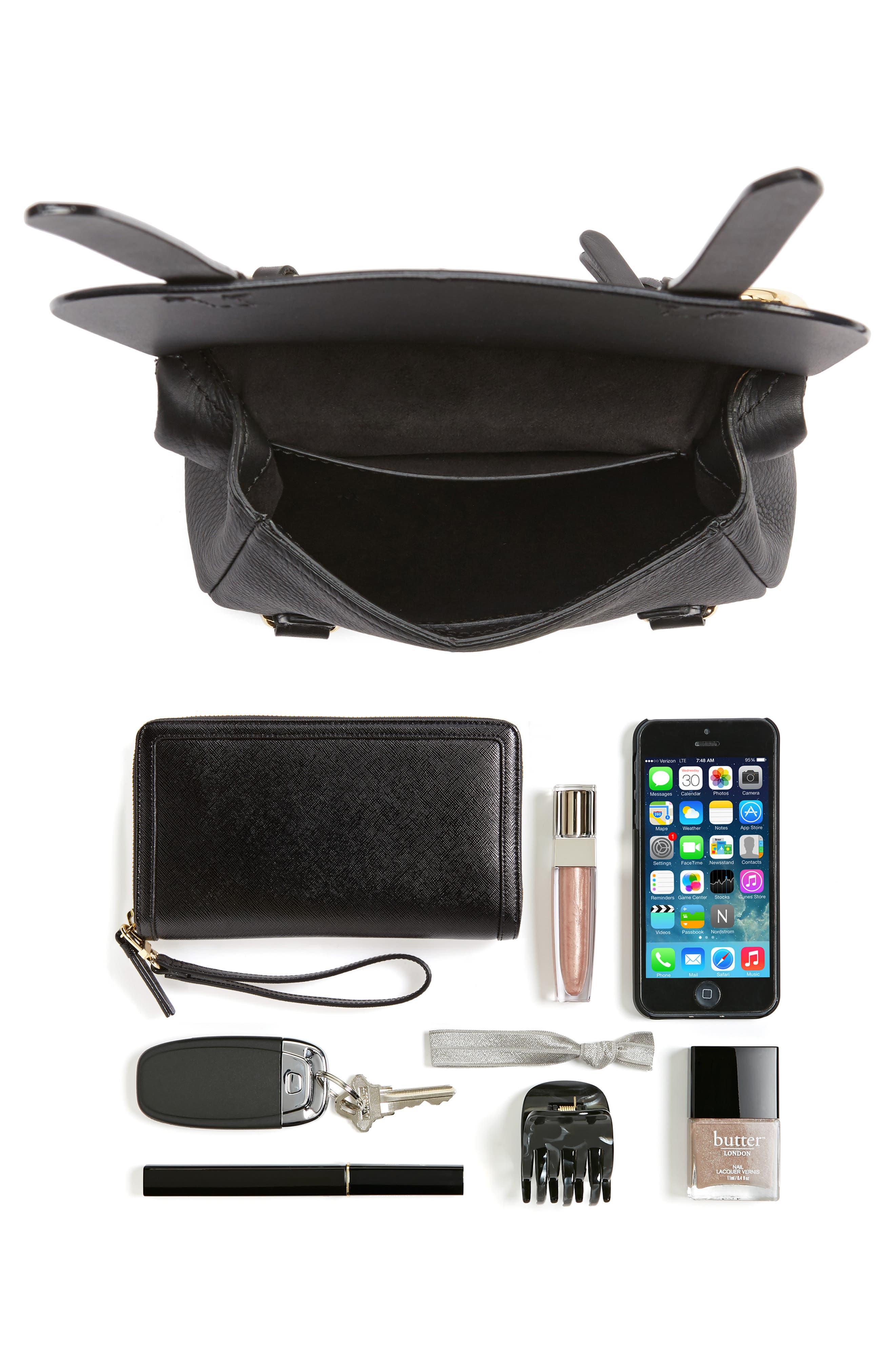 Bridle Leather Shoulder Bag,                             Alternate thumbnail 2, color,