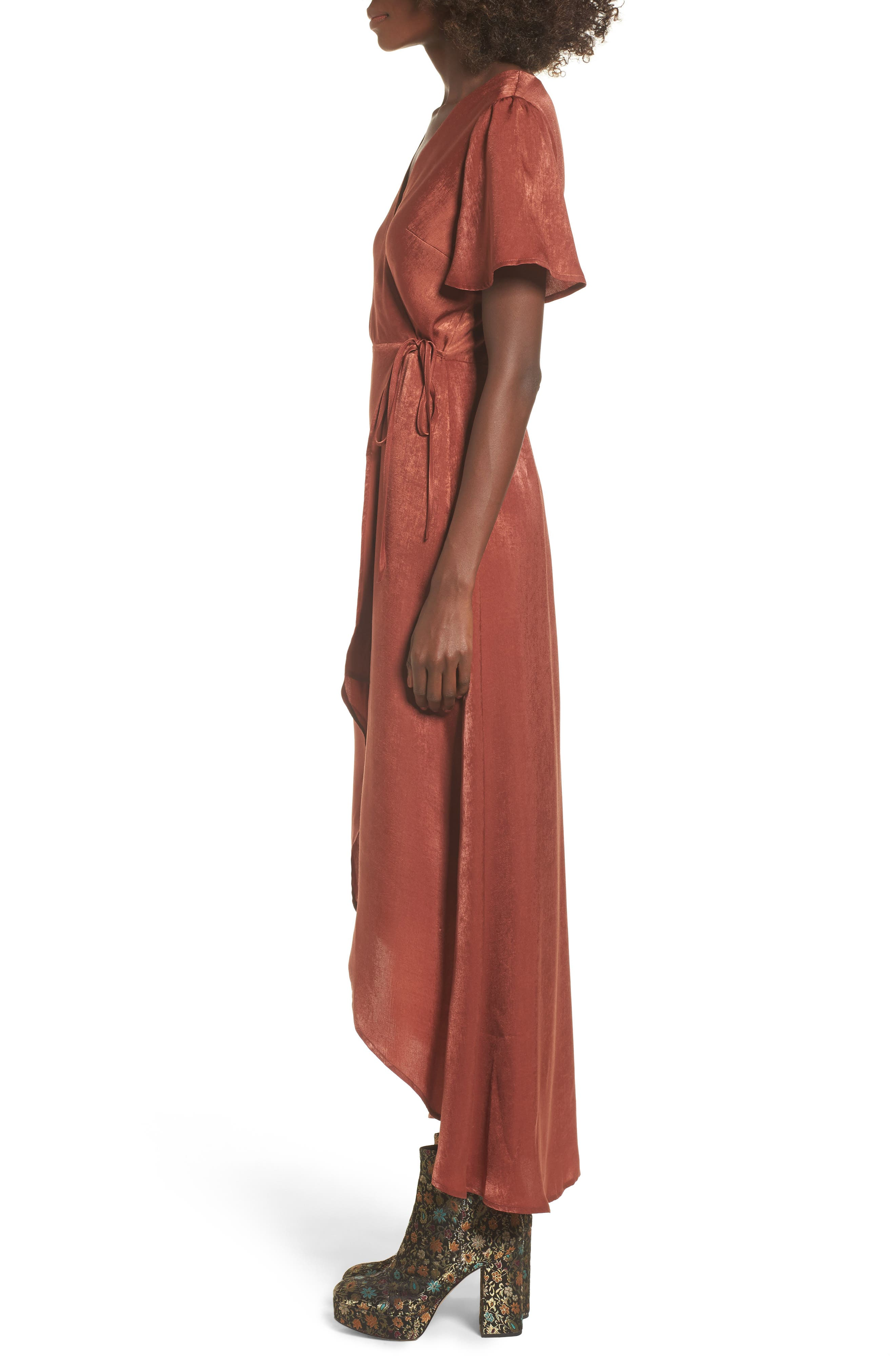 Wrap Maxi Dress,                             Alternate thumbnail 5, color,