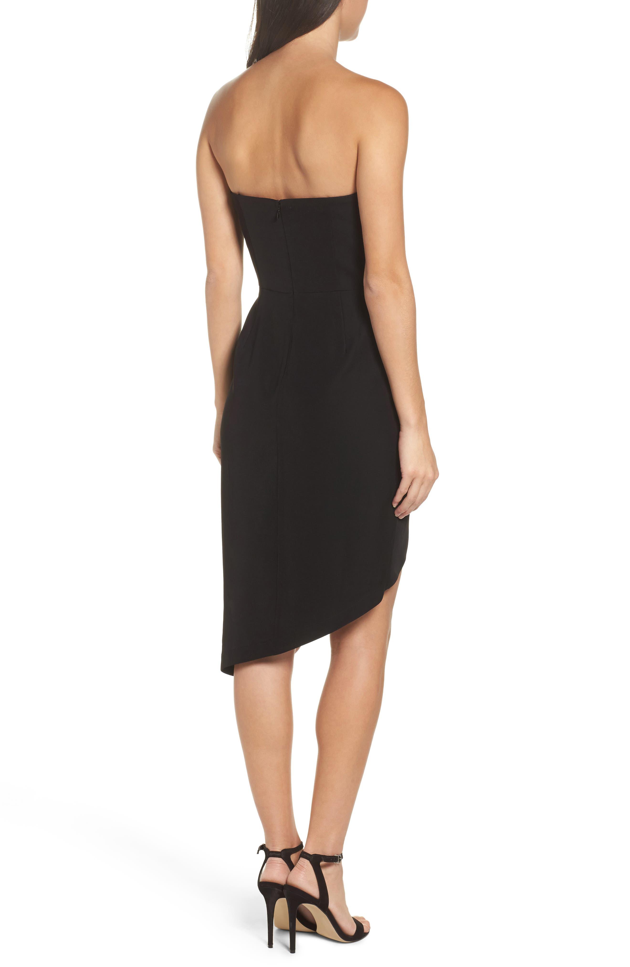 Loren Strapless Asymmetric Dress,                             Alternate thumbnail 2, color,