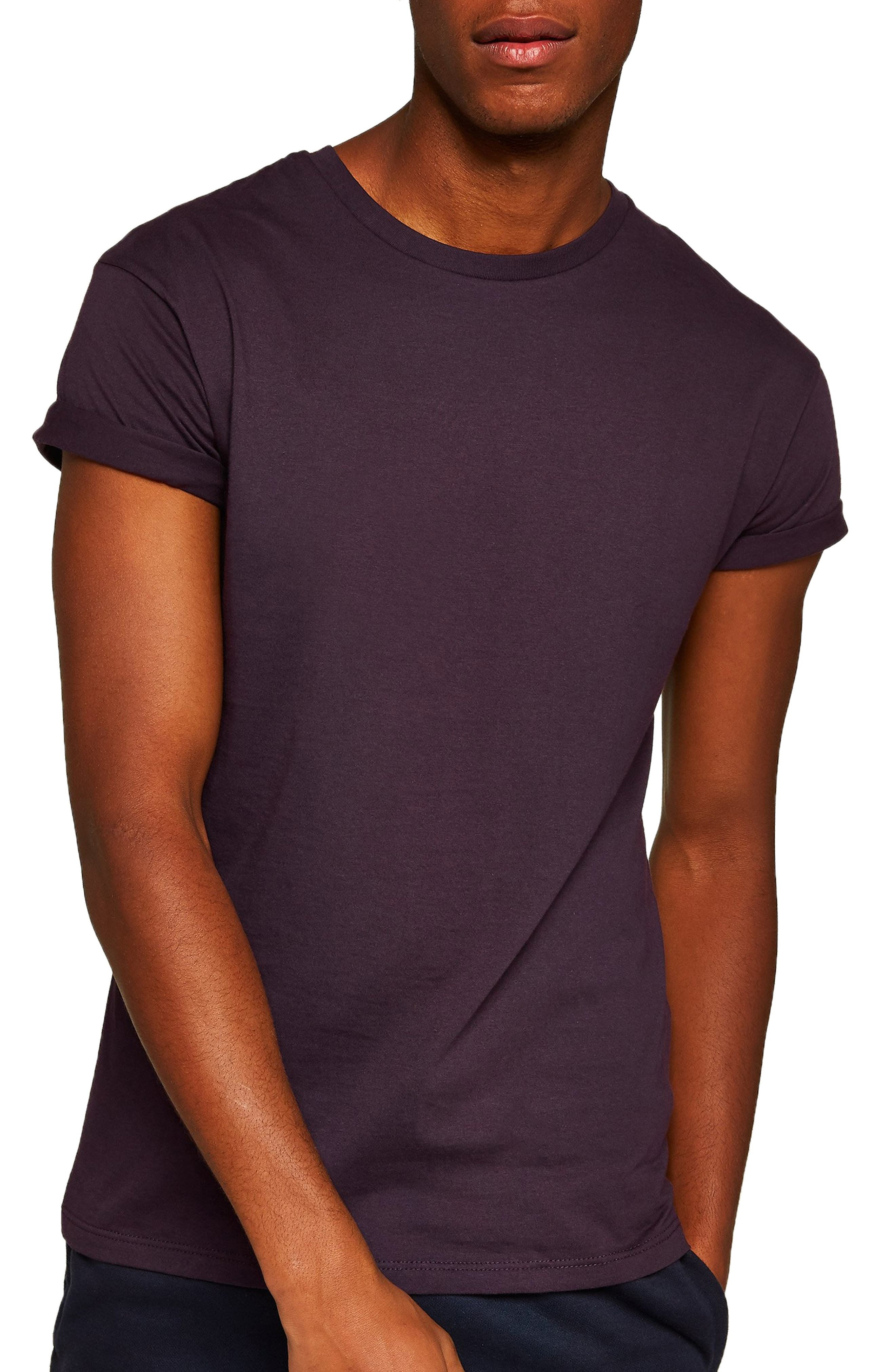 Muscle Fit Roller T-Shirt,                         Main,                         color, PURPLE