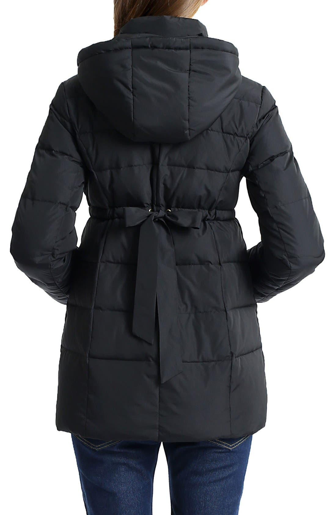 'Marlo' Water Resistant Down Maternity Parka,                             Alternate thumbnail 4, color,
