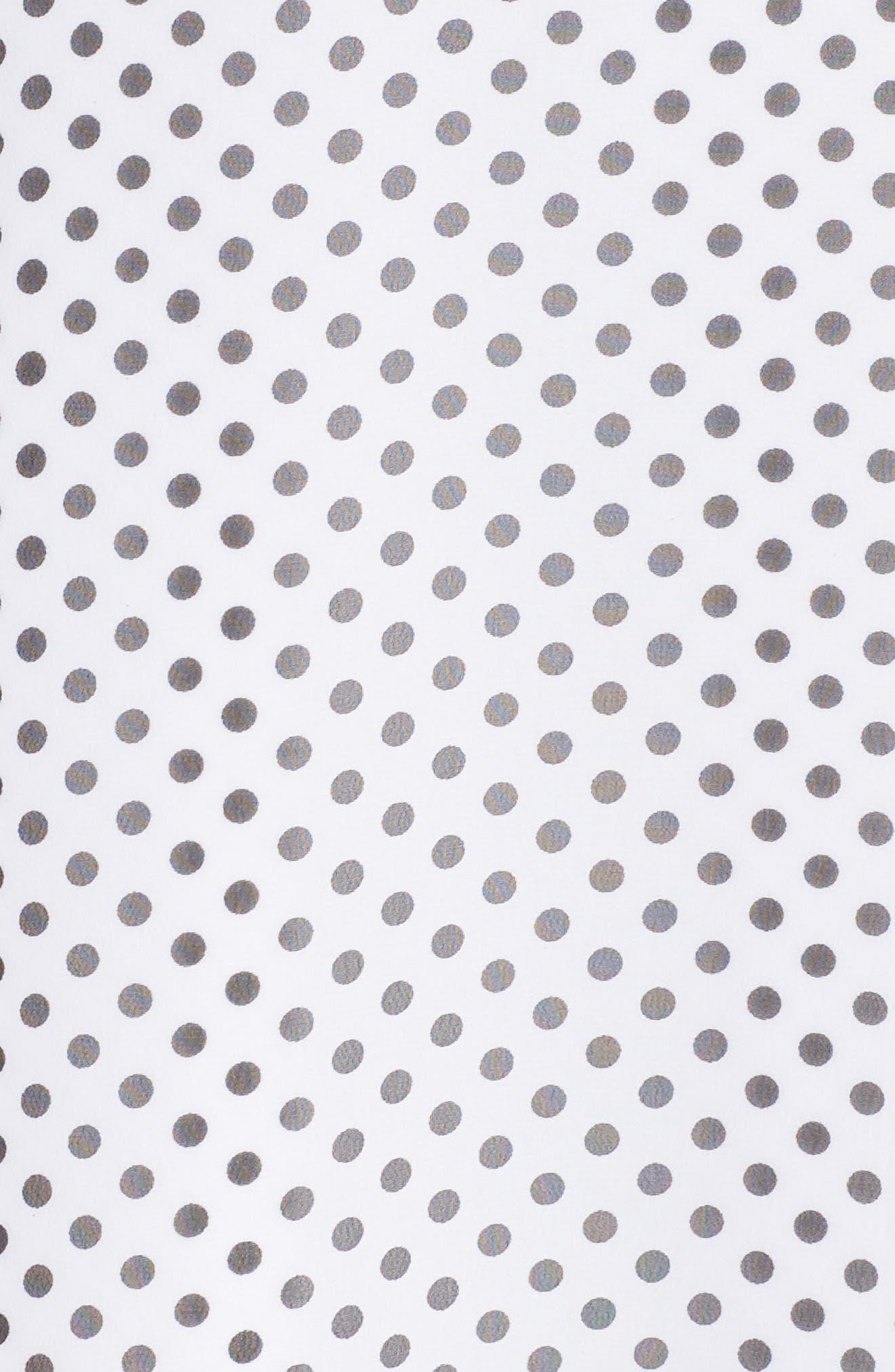 Alika Dot Fit & Flare Dress,                             Alternate thumbnail 7, color,                             IVORY