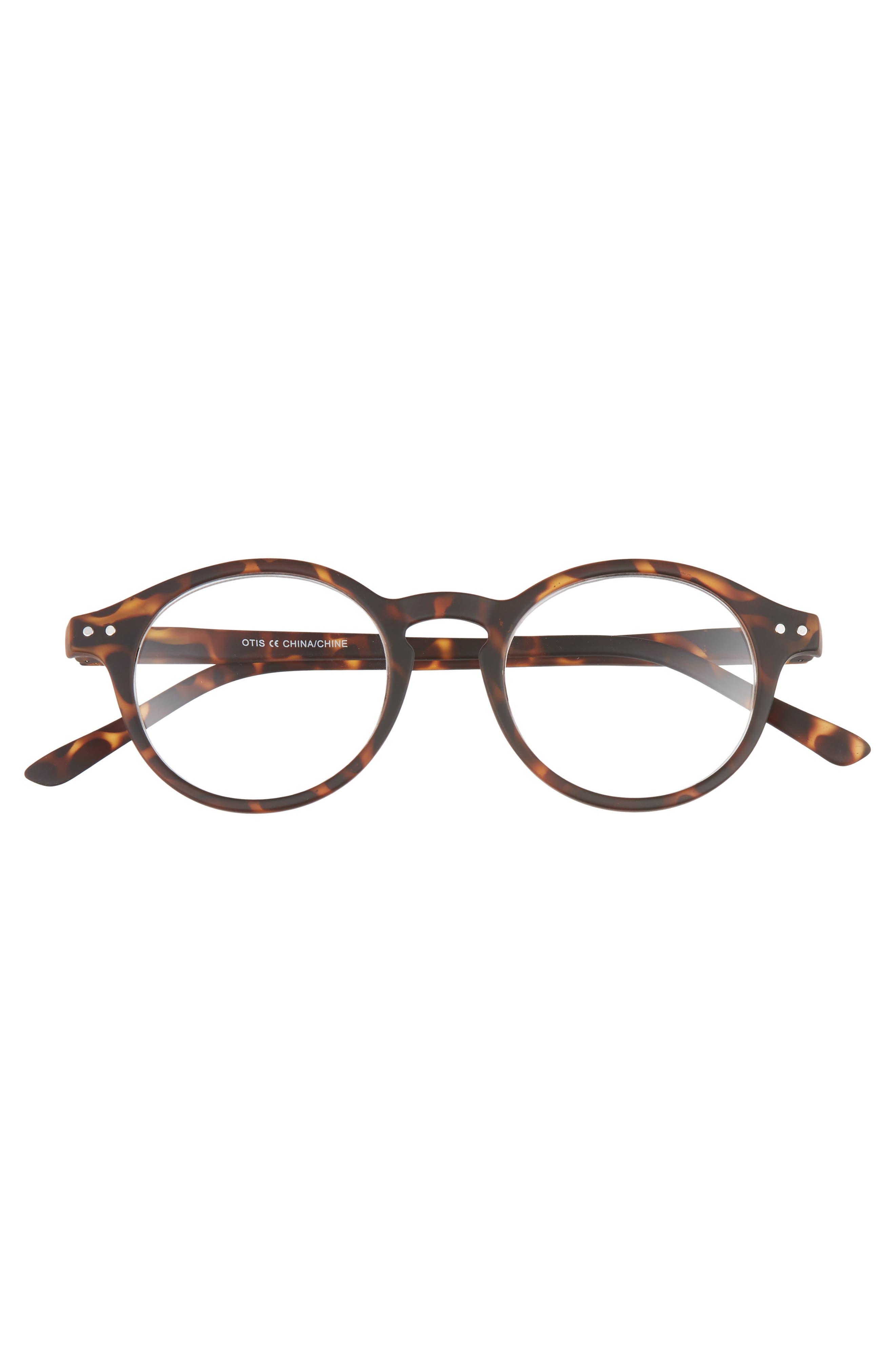 Otis 48mm Reading Glasses,                             Alternate thumbnail 2, color,                             BROWN TORTOISE