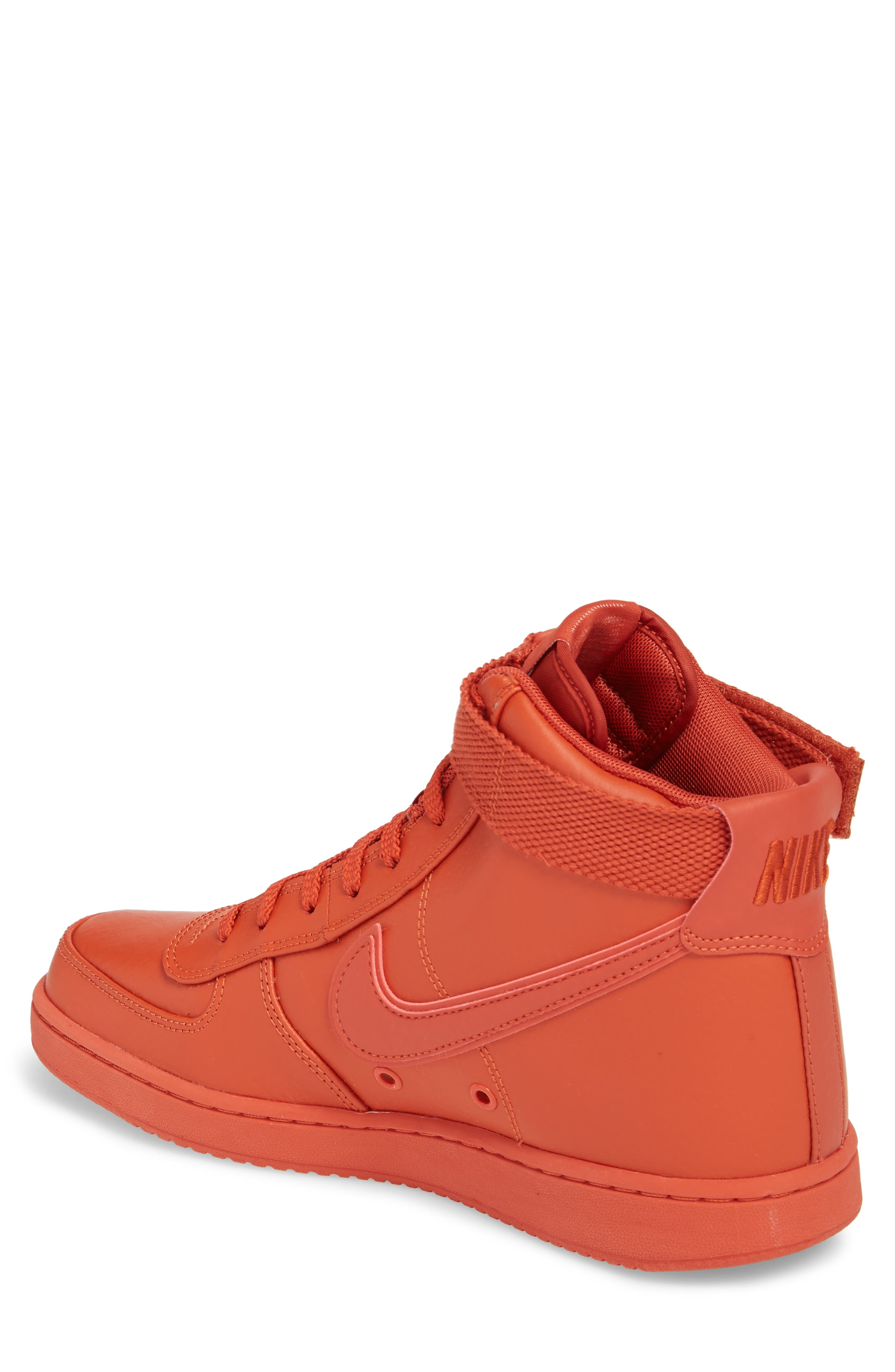 Vandal High Supreme Leather Sneaker,                             Alternate thumbnail 2, color,                             DRAGON RED