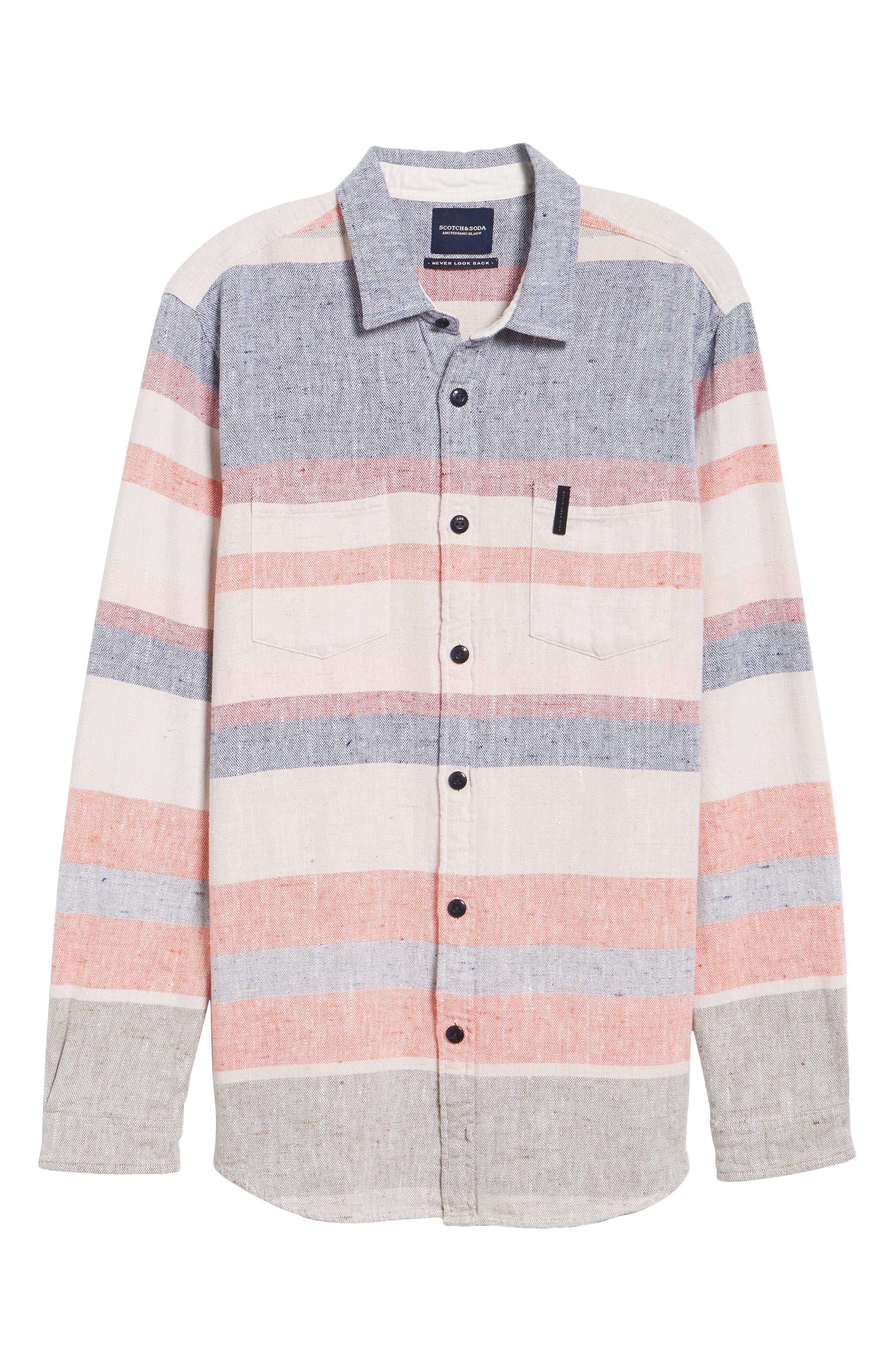 Amsterdams Summery Chunk Shirt,                             Alternate thumbnail 6, color,                             020