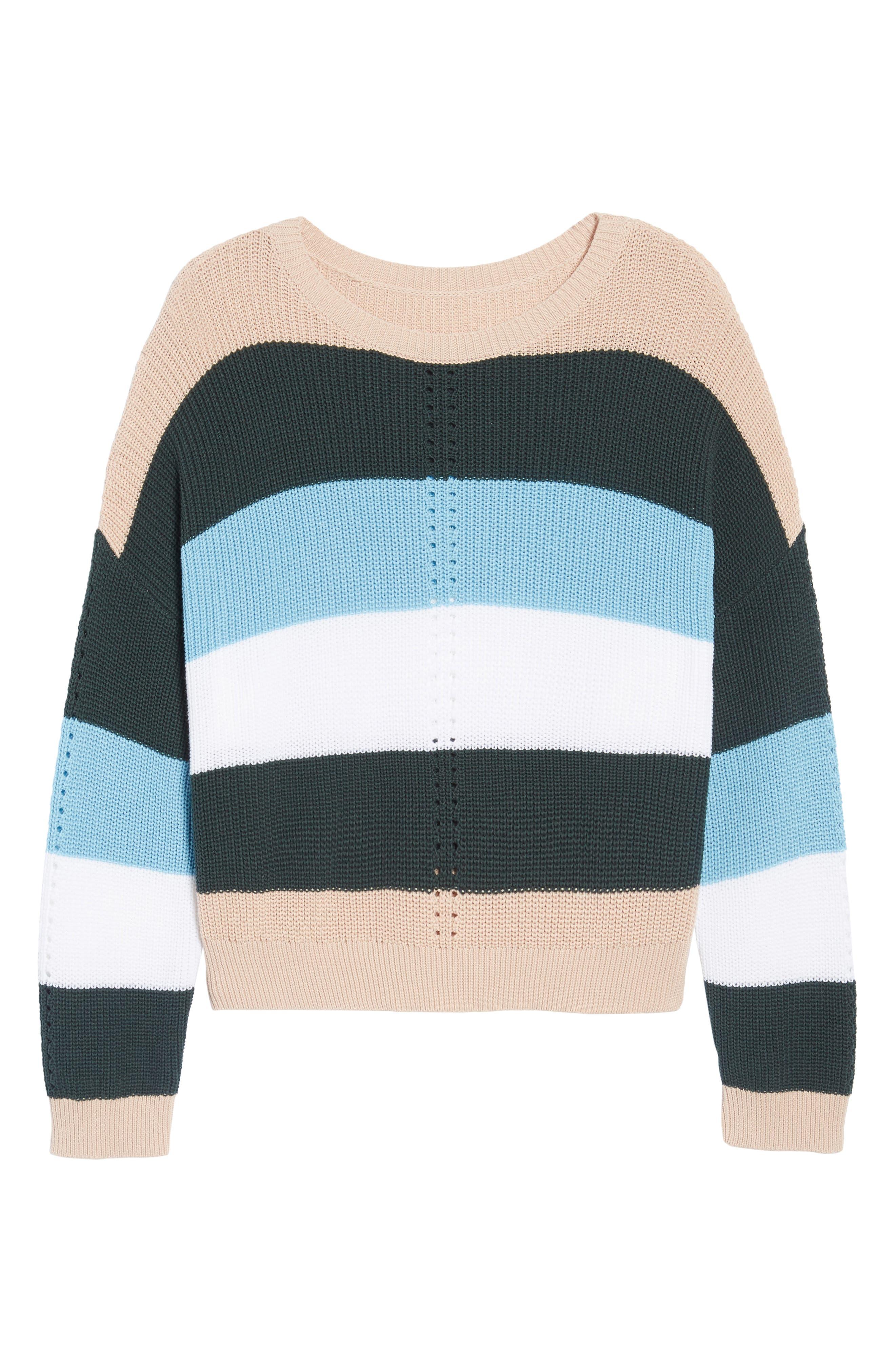 BP.,                             Stripe Sweater,                             Alternate thumbnail 6, color,                             680
