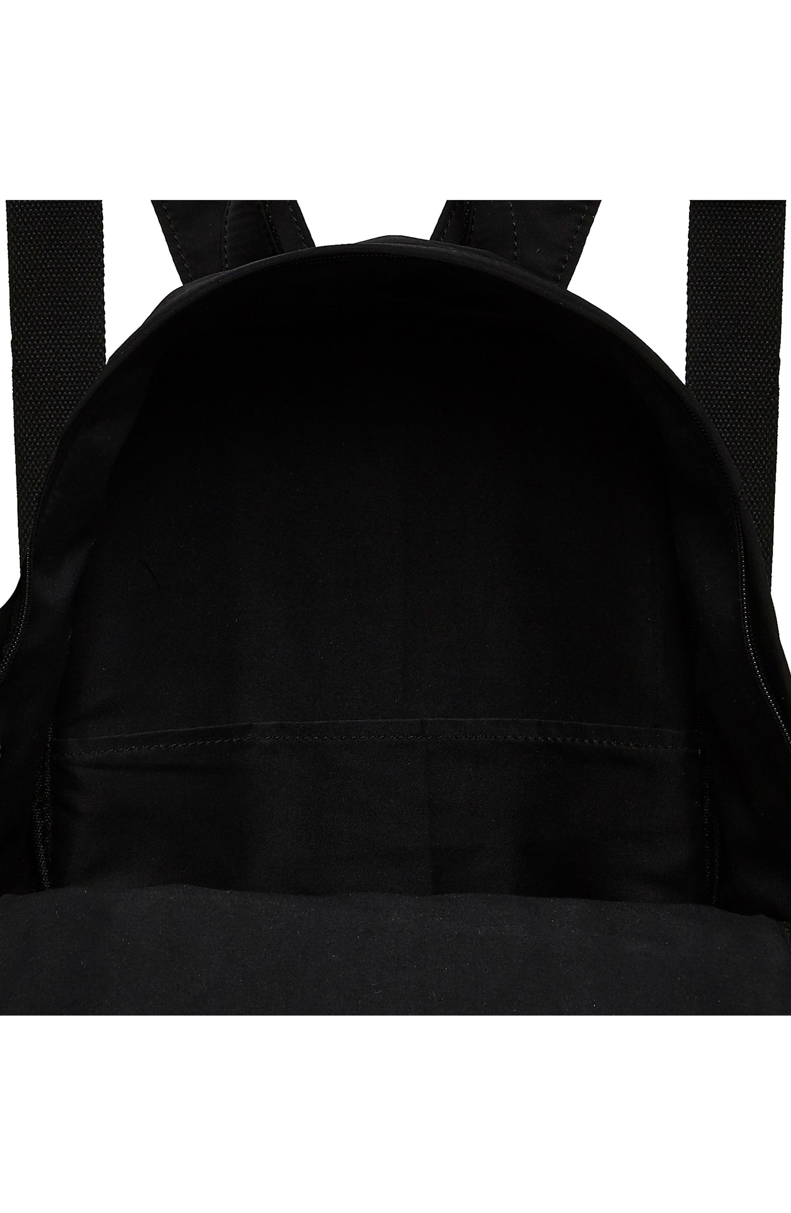 Own Beat Vegan Leather Backpack,                             Alternate thumbnail 3, color,                             001