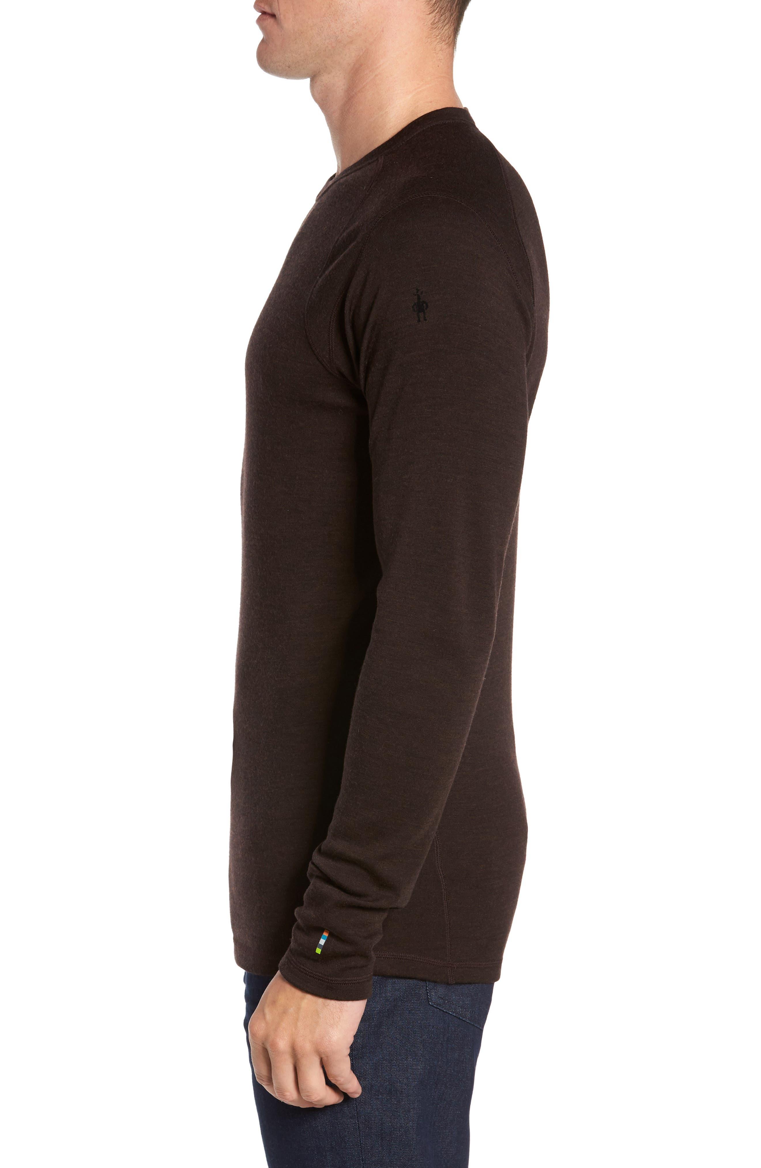 Merino 250 Base Layer Crewneck T-Shirt,                             Alternate thumbnail 3, color,                             SUMATRA HEATHER