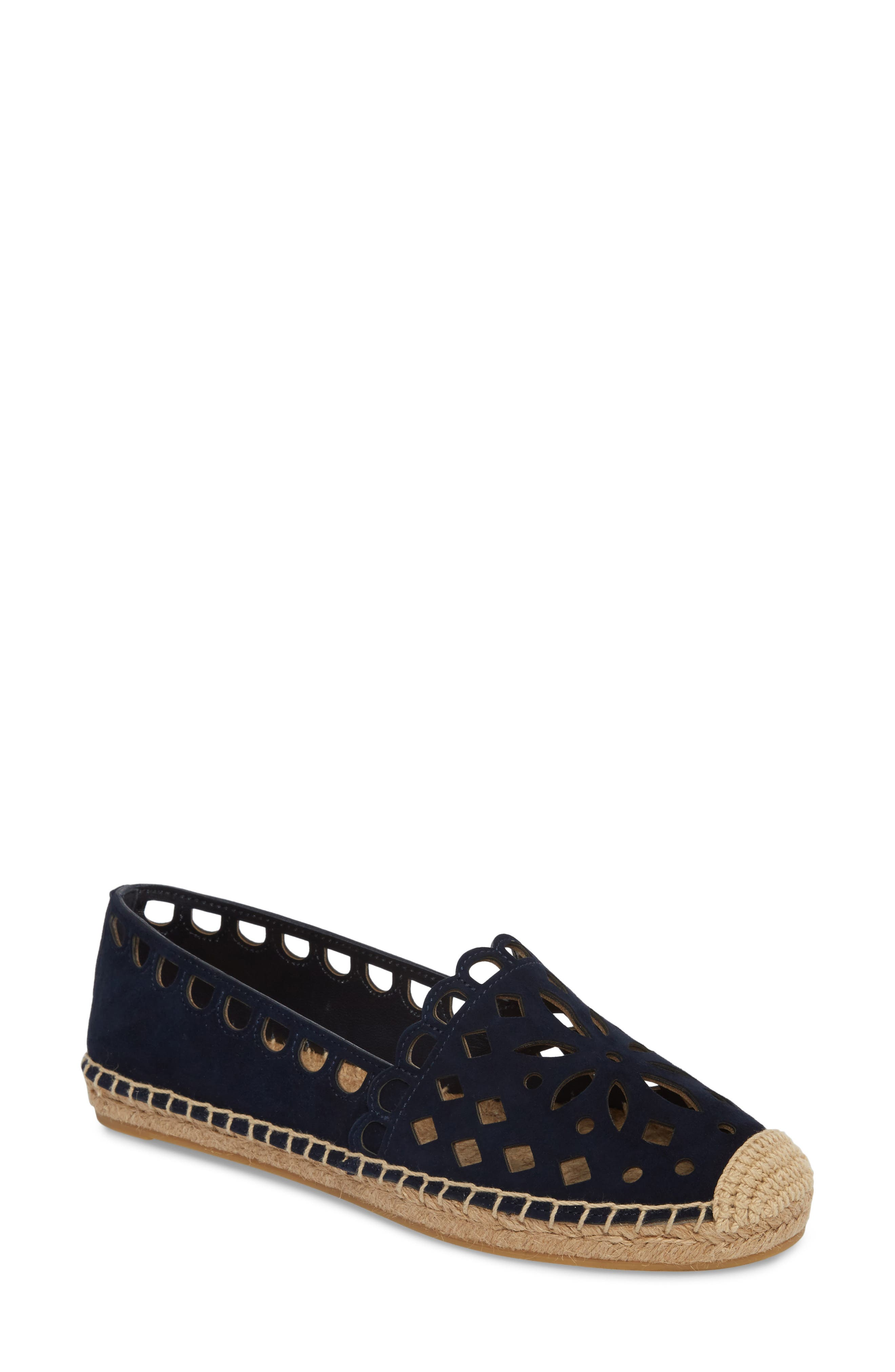 May Perforated Espadrille Flat,                             Main thumbnail 1, color,                             430