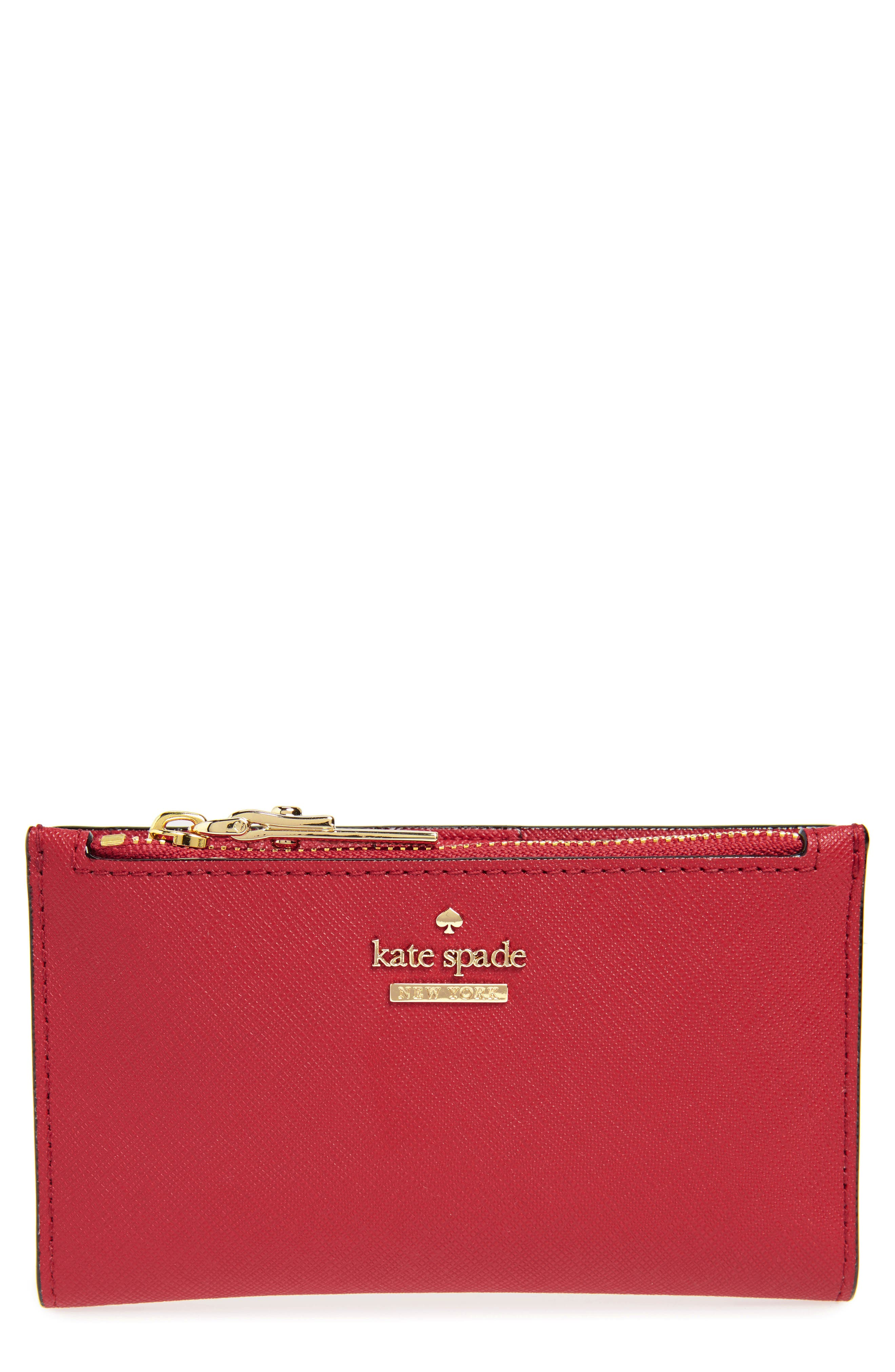 cameron street - mikey leather wallet,                             Main thumbnail 1, color,                             HEIRLOOM RED
