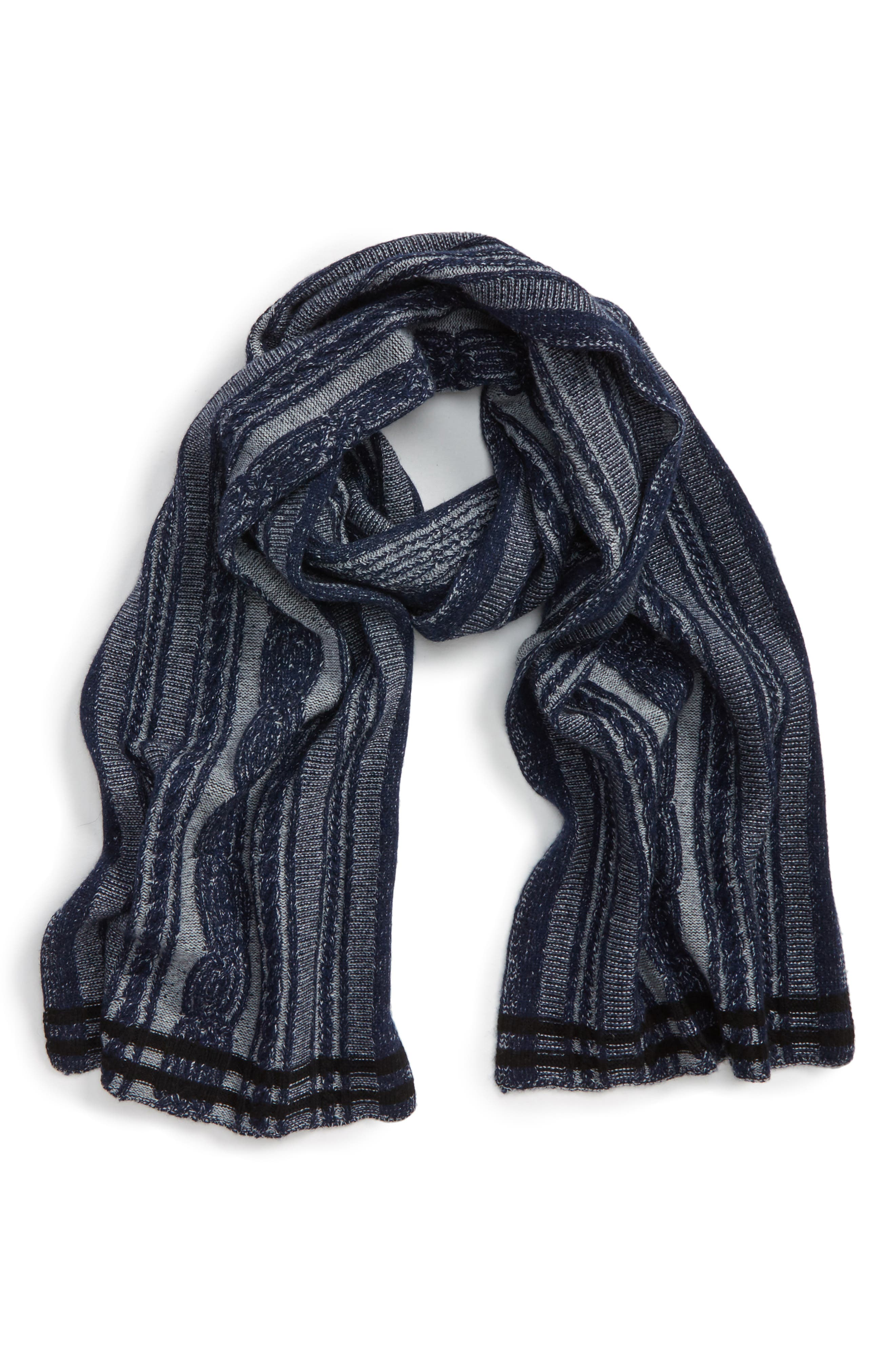 Stripe Wool & Cashmere Scarf,                             Main thumbnail 1, color,                             410