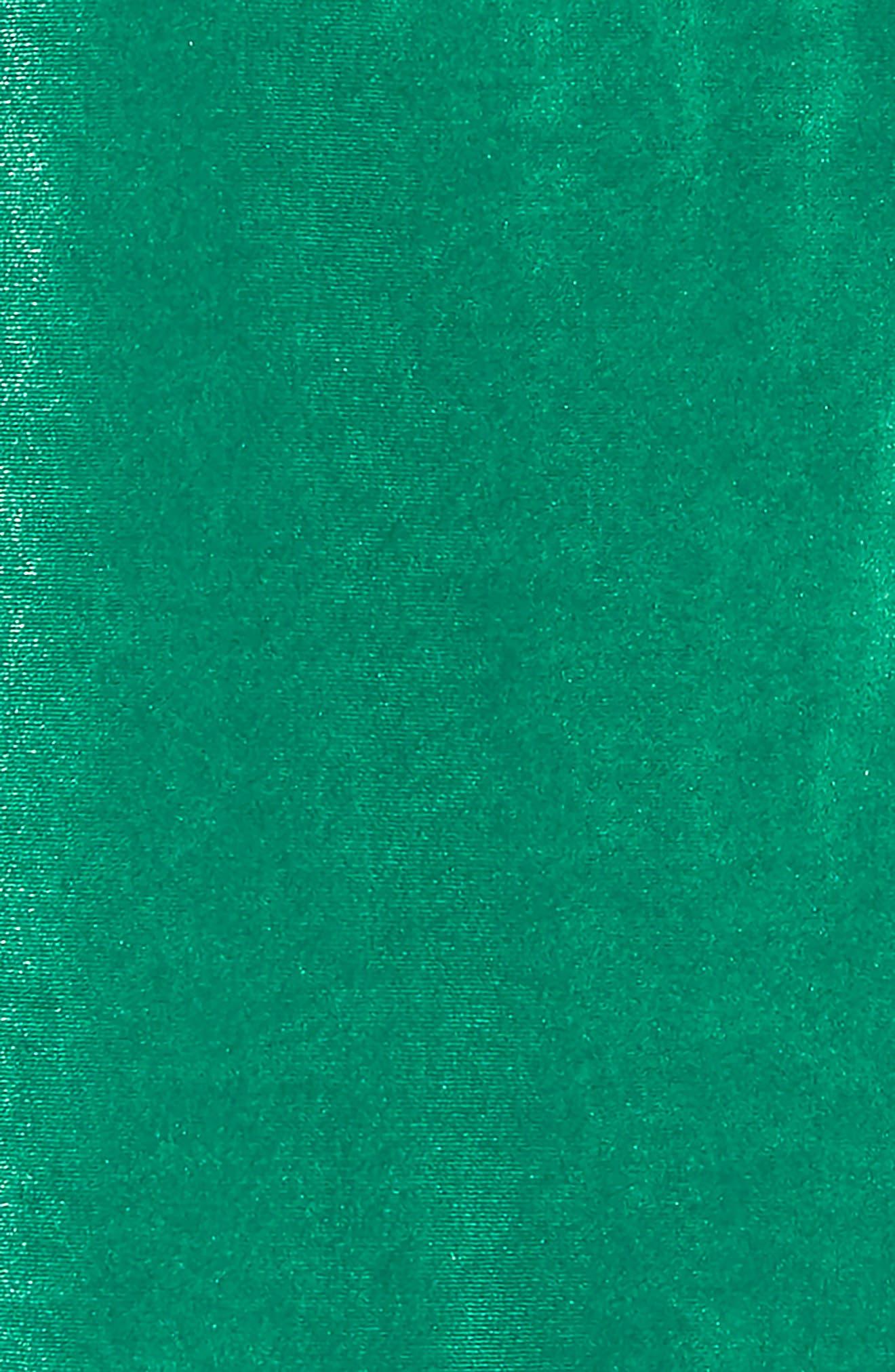 Velvet Ruffle Dress,                             Alternate thumbnail 3, color,                             GREEN GOLF