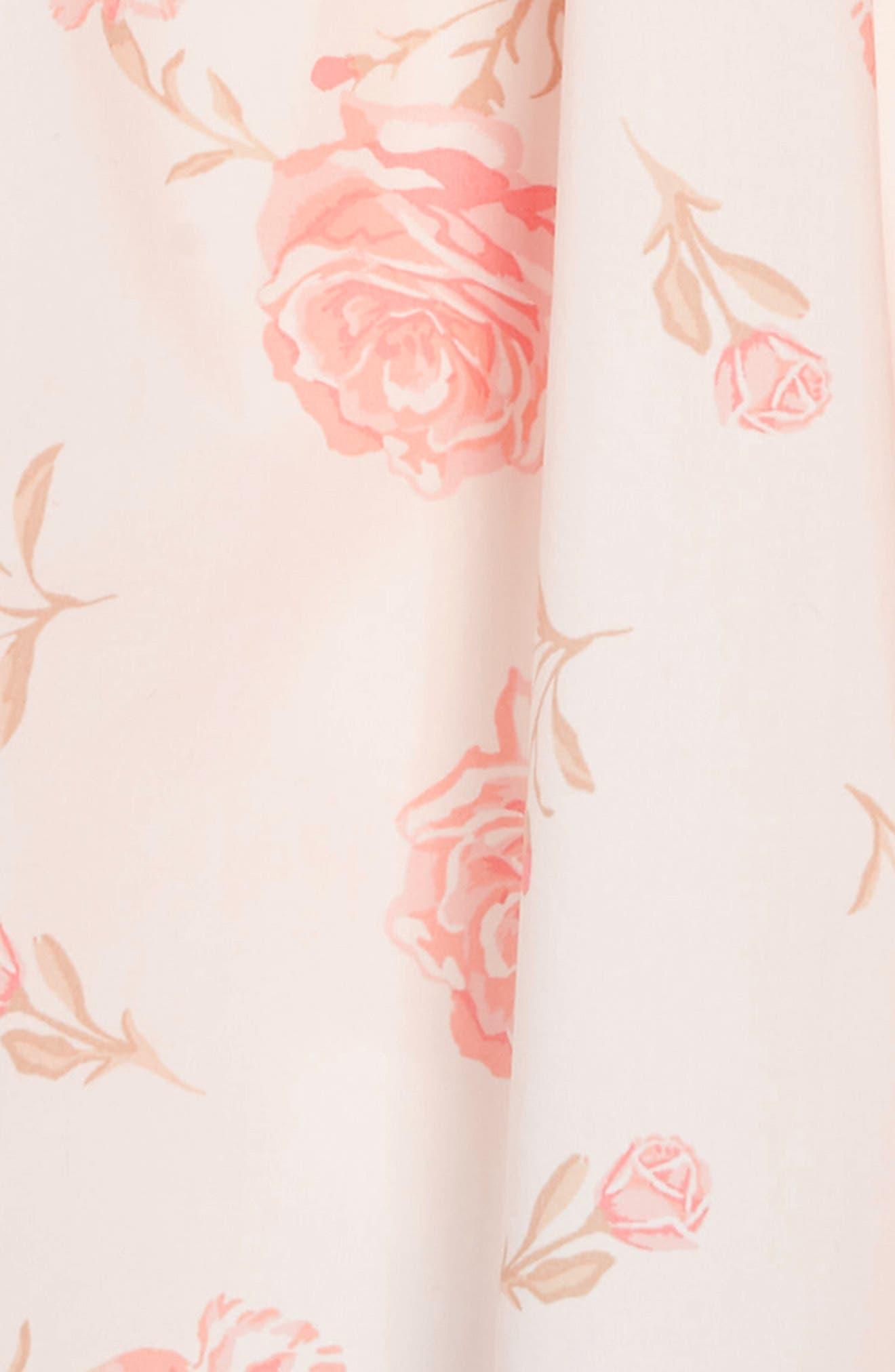 RUBY & BLOOM,                             Lovely Lace Dress,                             Alternate thumbnail 3, color,                             IVORY EGRET ELEGANT FLORAL