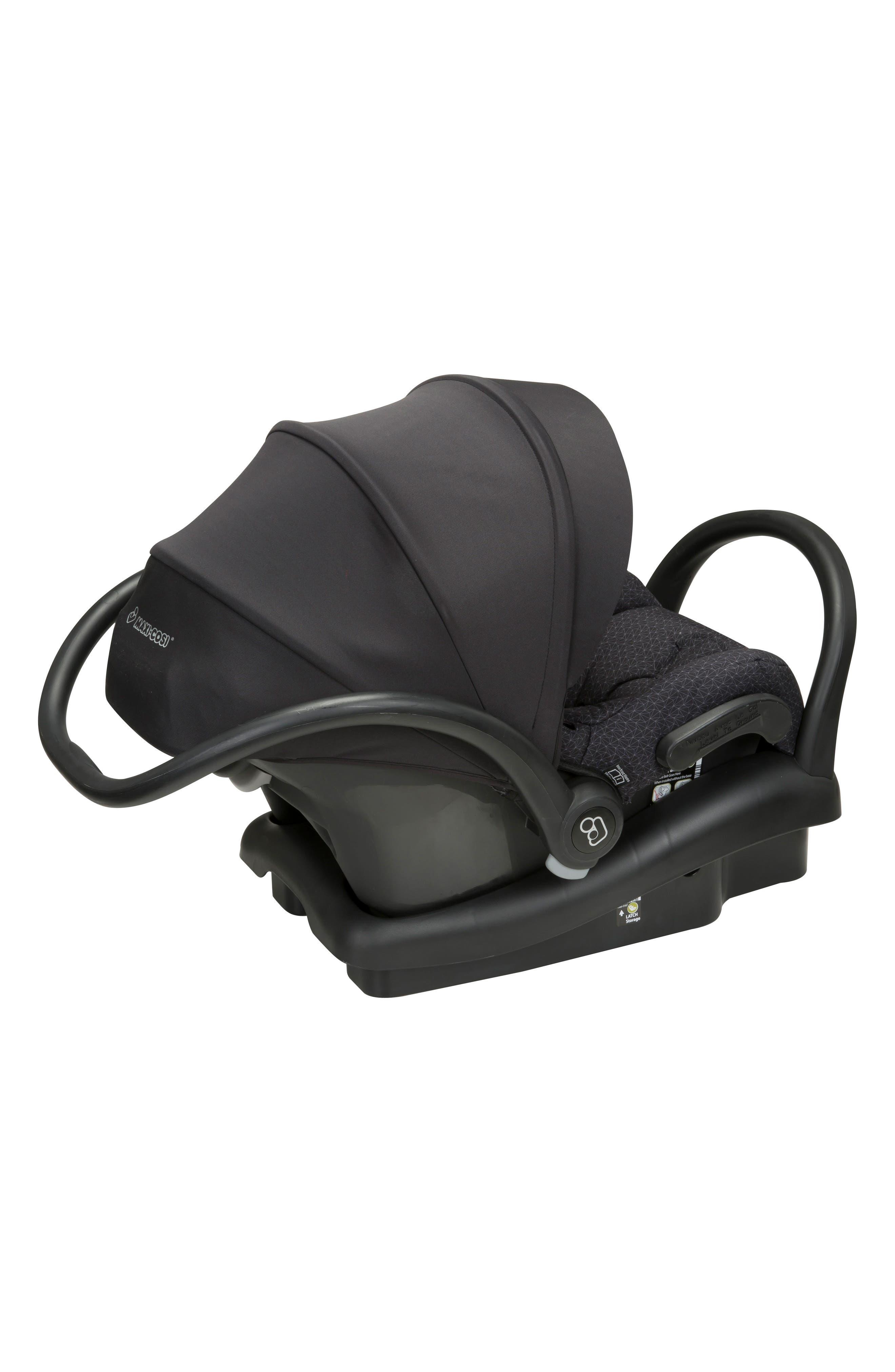 Mico Max 30 Infant Car Seat,                             Alternate thumbnail 3, color,                             BLACK CRYSTAL