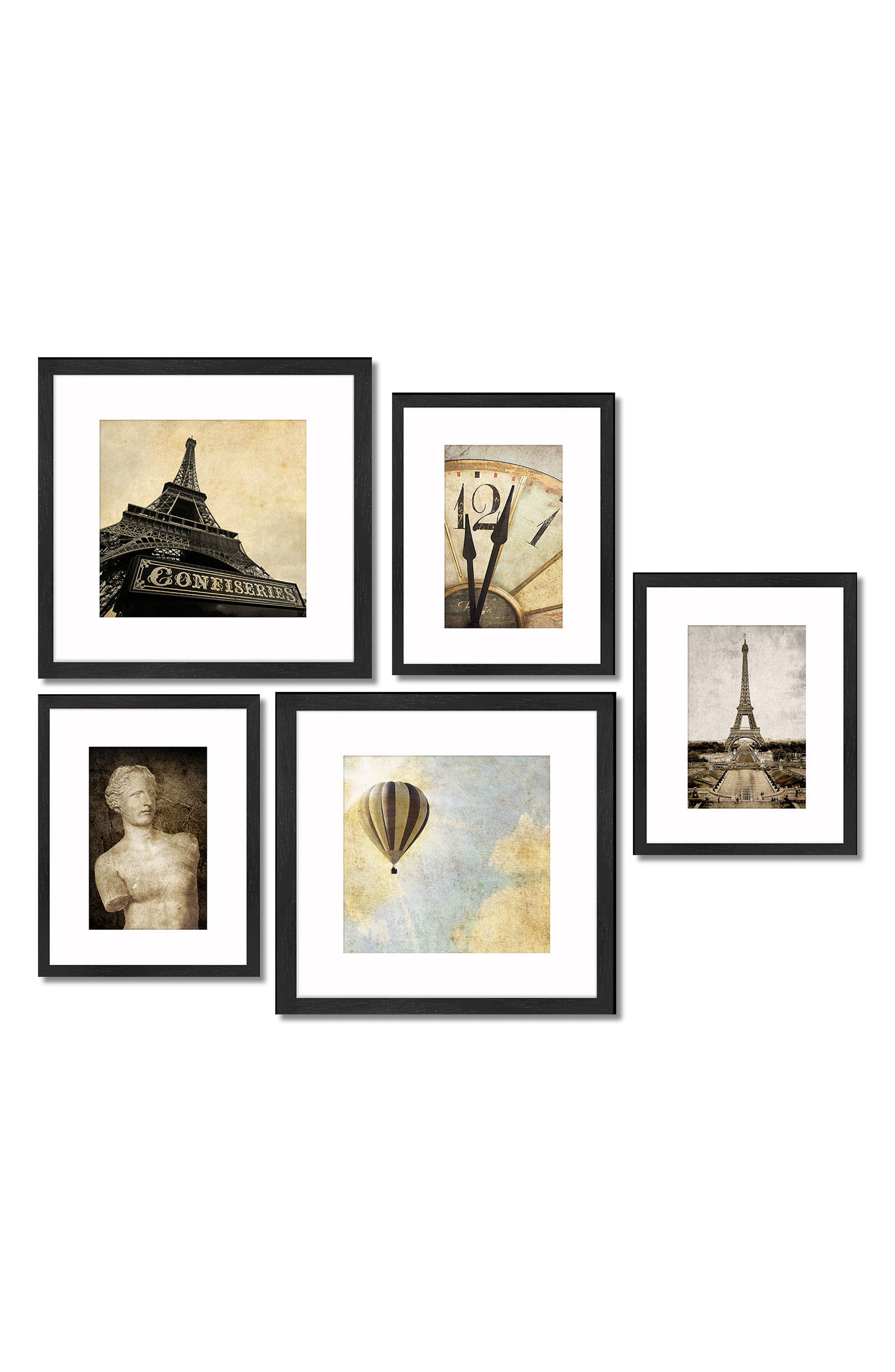 5-Piece Framed Wall Art Gallery,                         Main,                         color, 001