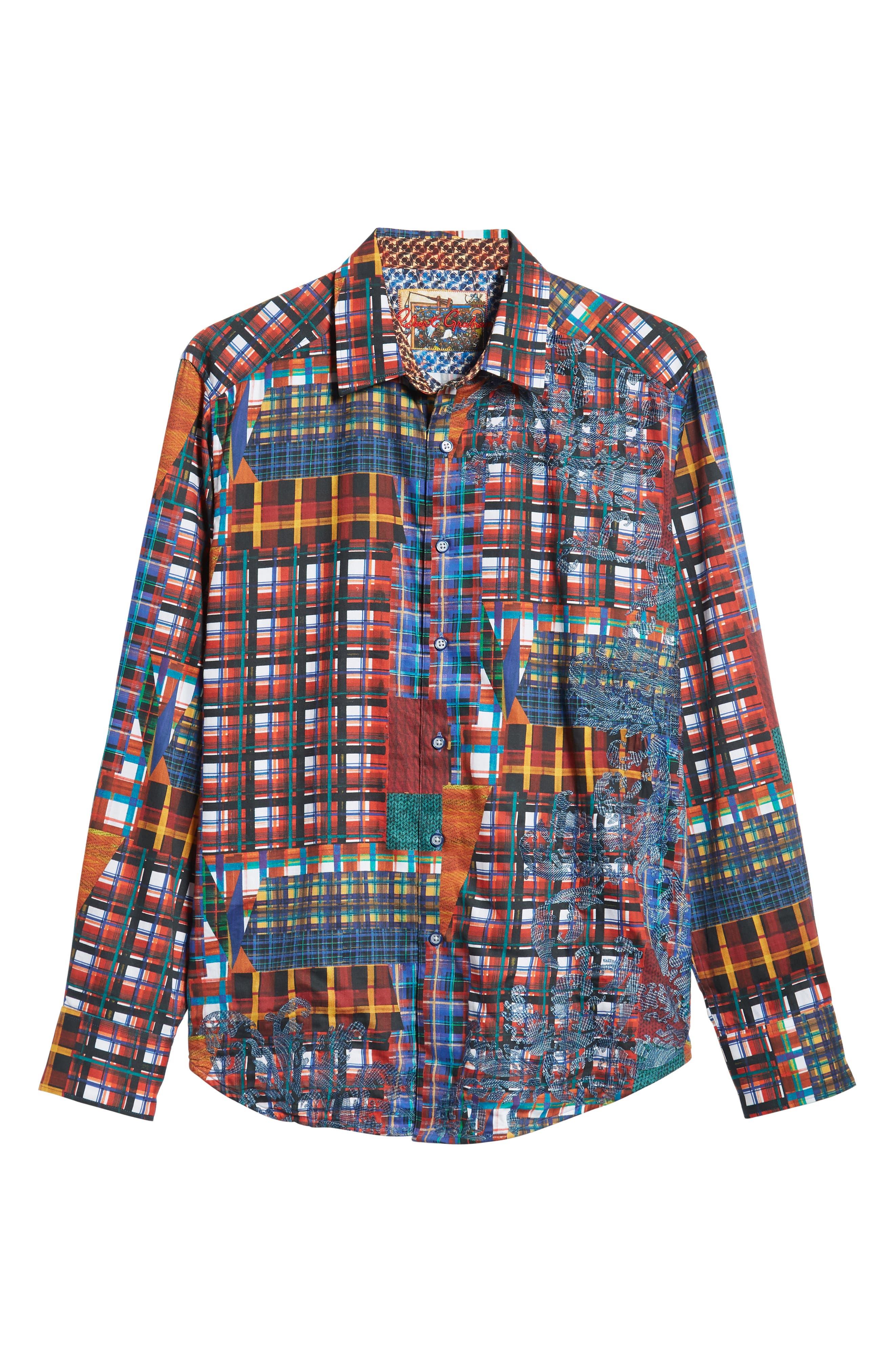 ROBERT GRAHAM,                             Hurst Classic Fit Sport Shirt,                             Alternate thumbnail 5, color,                             600