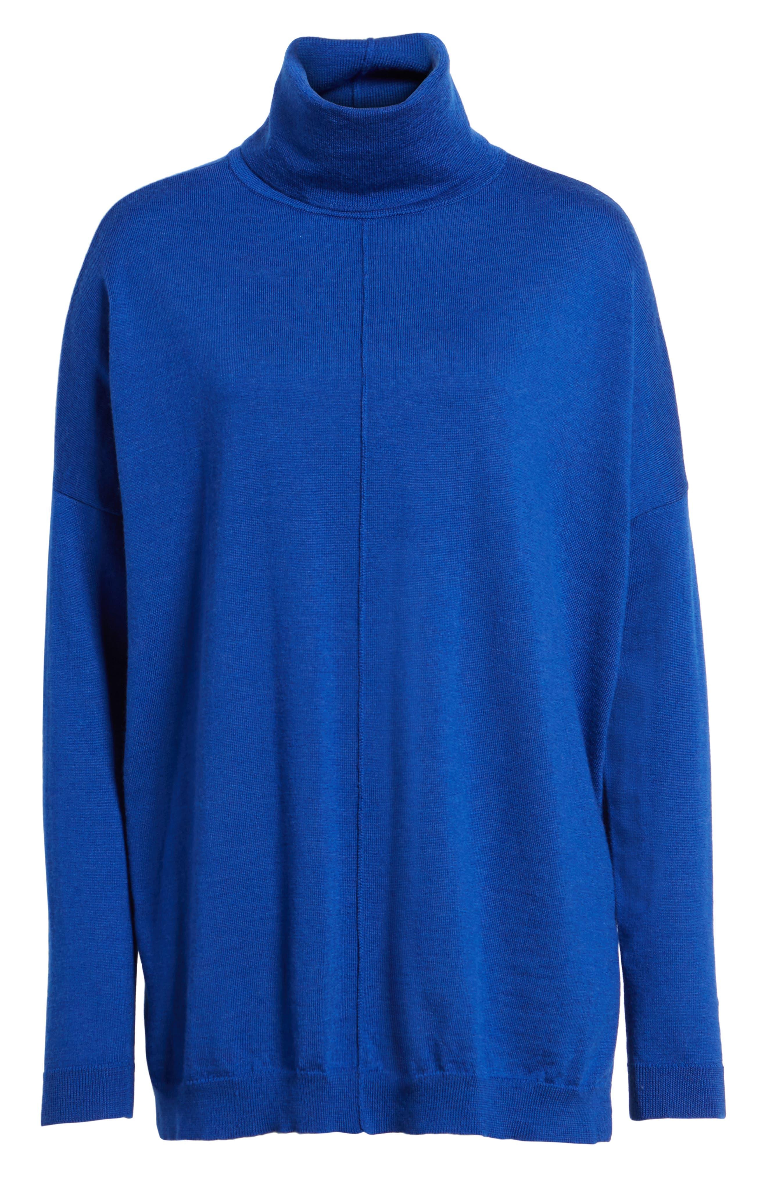 Merino Wool Boxy Turtleneck Sweater,                             Alternate thumbnail 34, color,