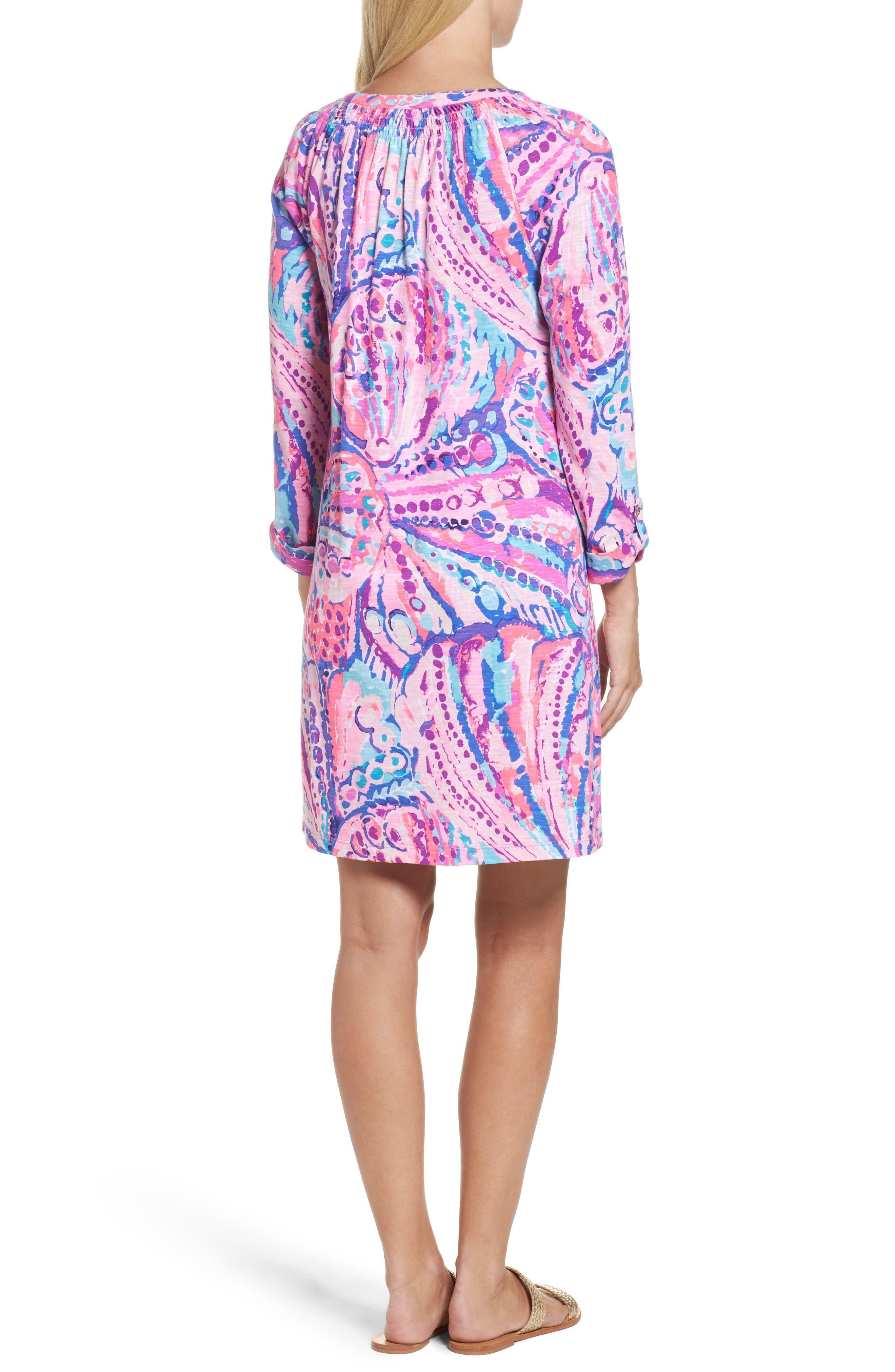 Essie Roll Sleeve Shift Dress,                             Alternate thumbnail 2, color,                             550