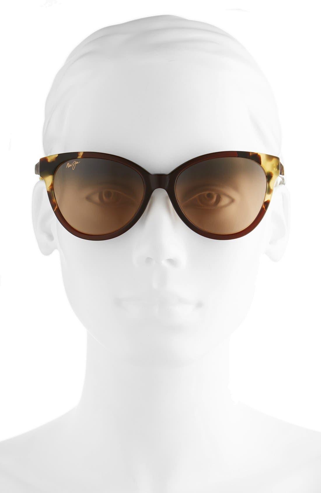 Sunshine 56mm PolarizedPlus2<sup>®</sup> Sunglasses,                             Alternate thumbnail 2, color,                             MARSALA TOKYO TORTOISE/ BRONZE