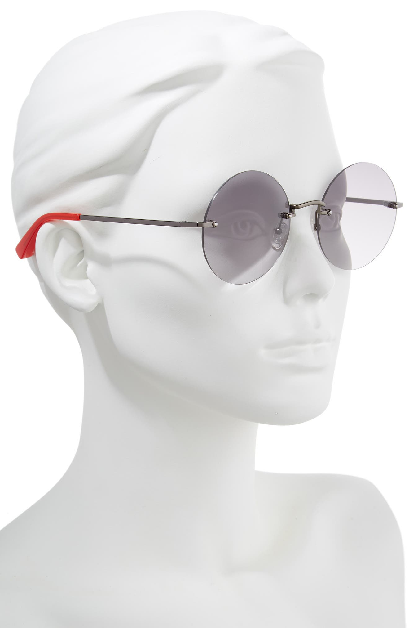 Kelly 57mm Rimless Round Sunglasses,                             Alternate thumbnail 2, color,                             001