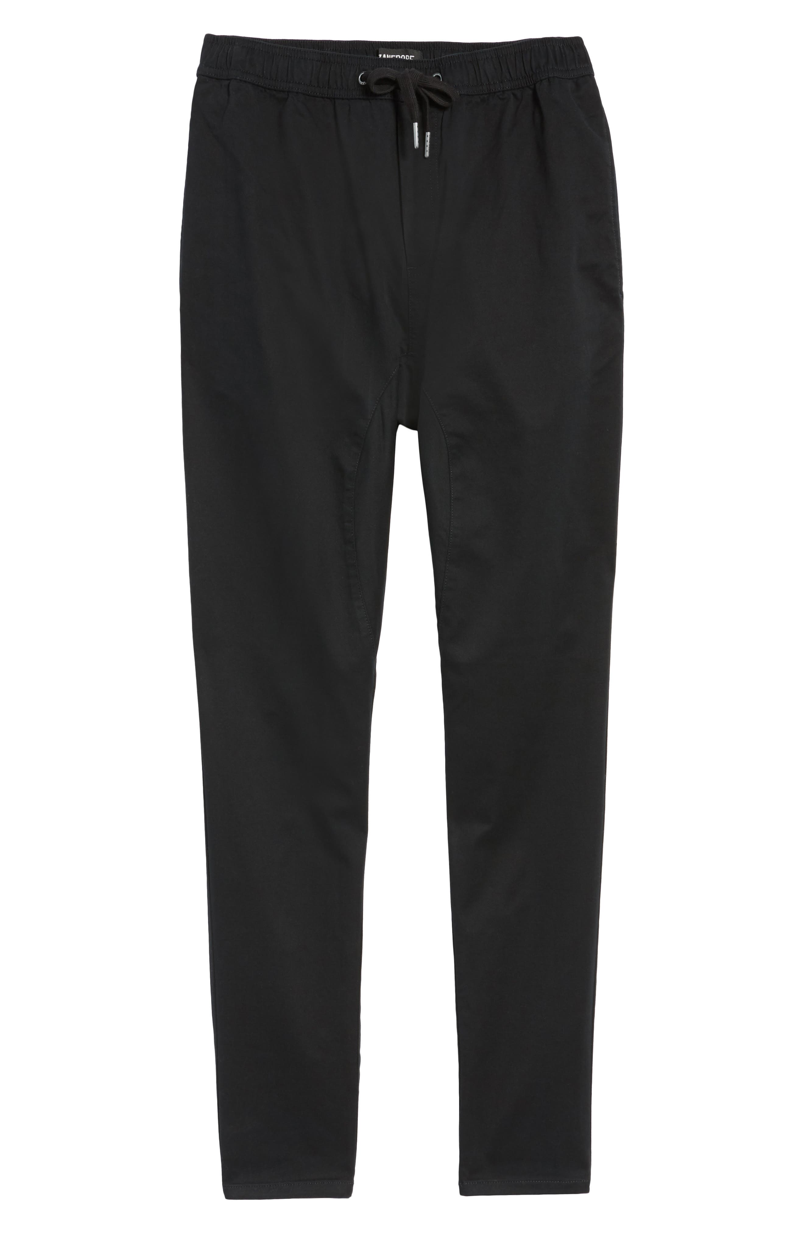 Salerno Stretch Woven Jogger Pants,                         Main,                         color, BLACK
