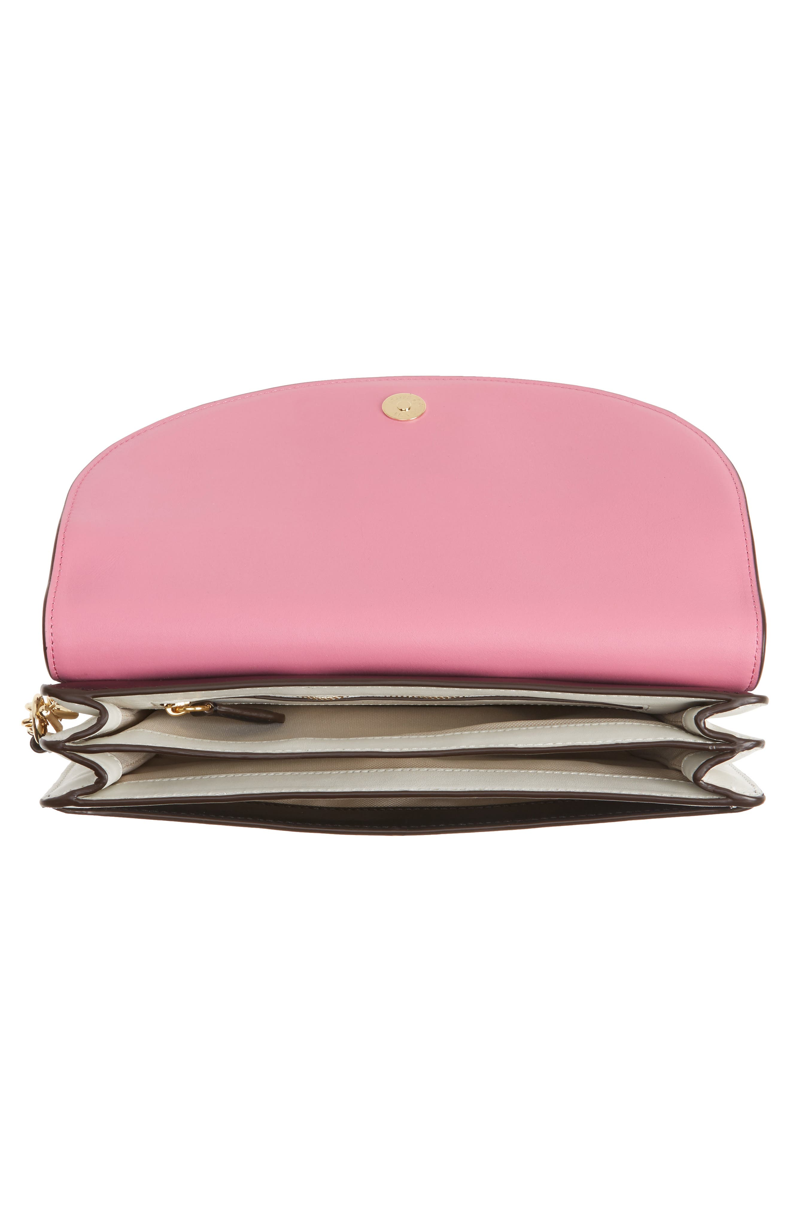 Convertible Leather Saddle Clutch,                             Alternate thumbnail 4, color,                             020