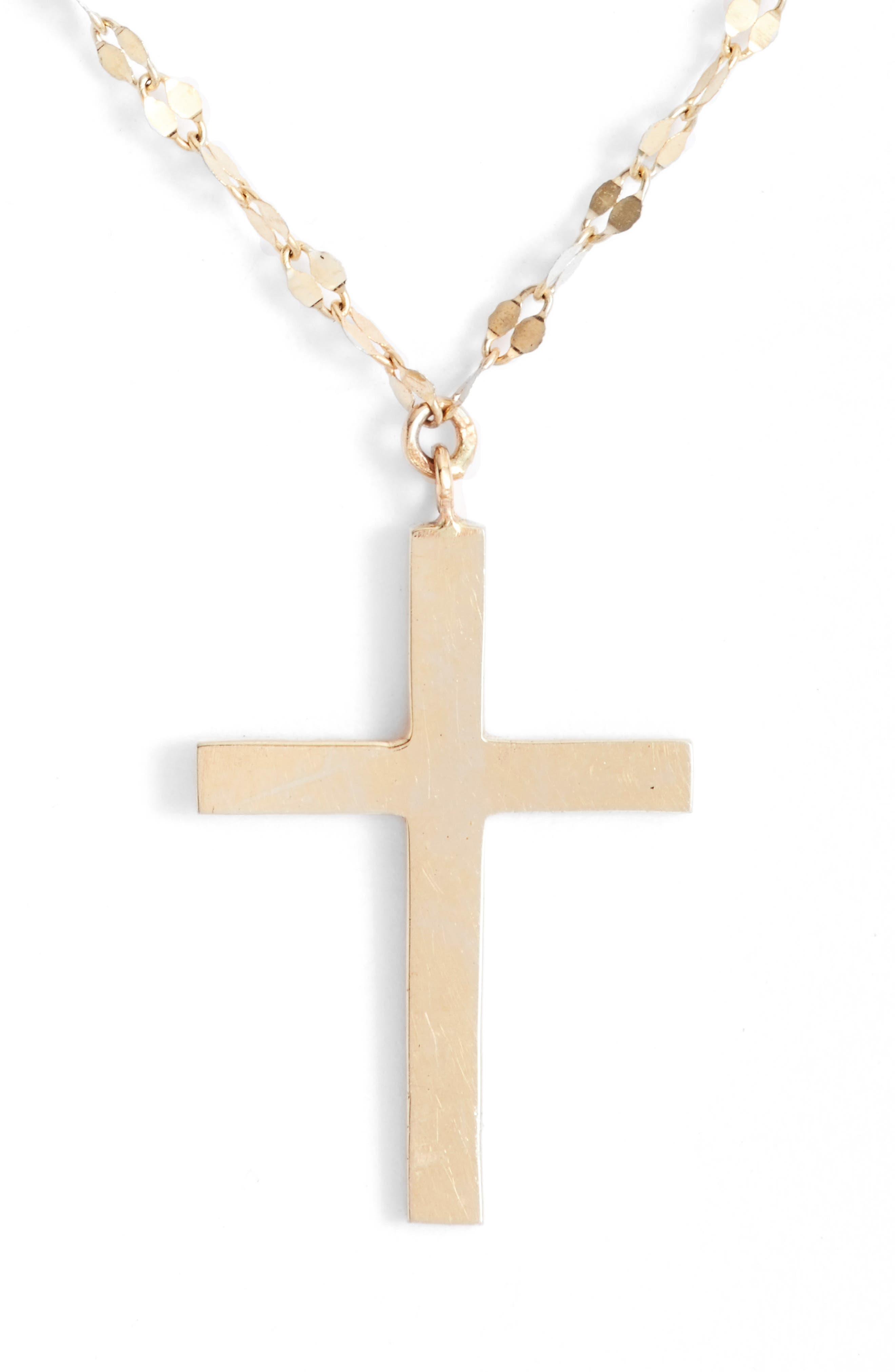 Bond Triple Cross Charm Necklace,                             Alternate thumbnail 2, color,                             710