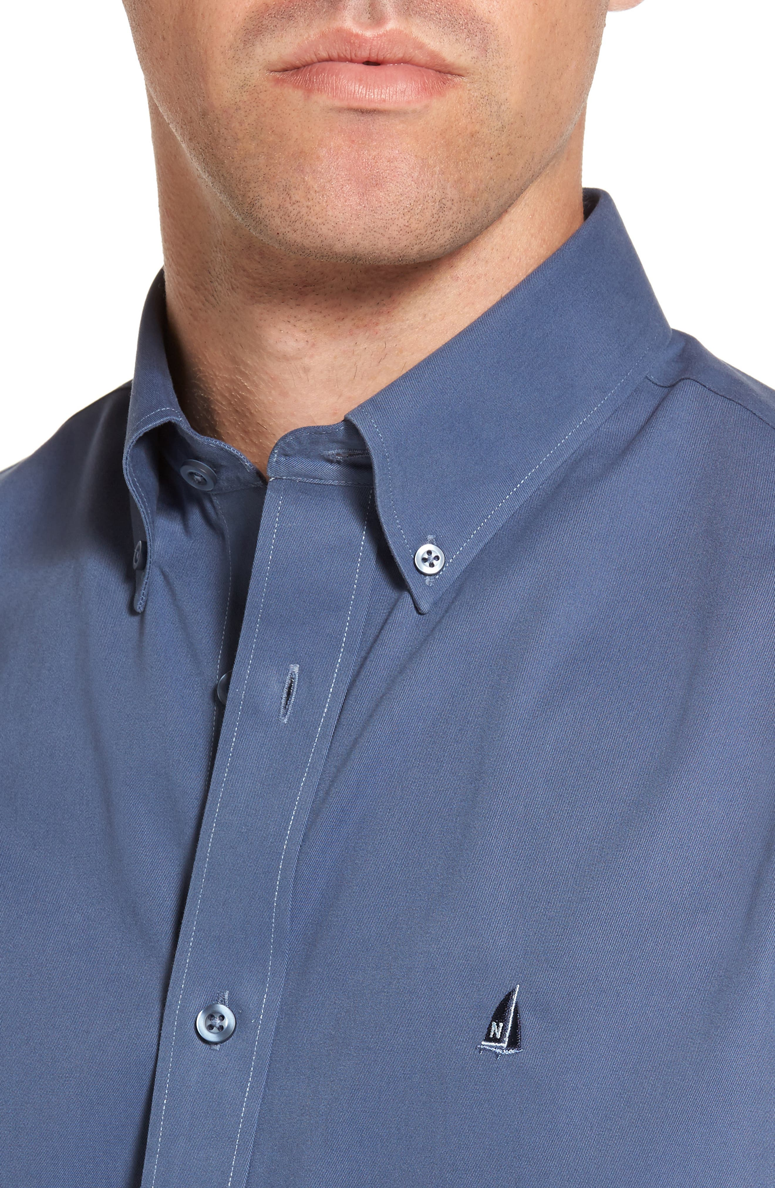 Smartcare<sup>™</sup> Traditional Fit Twill Boat Shirt,                             Alternate thumbnail 147, color,