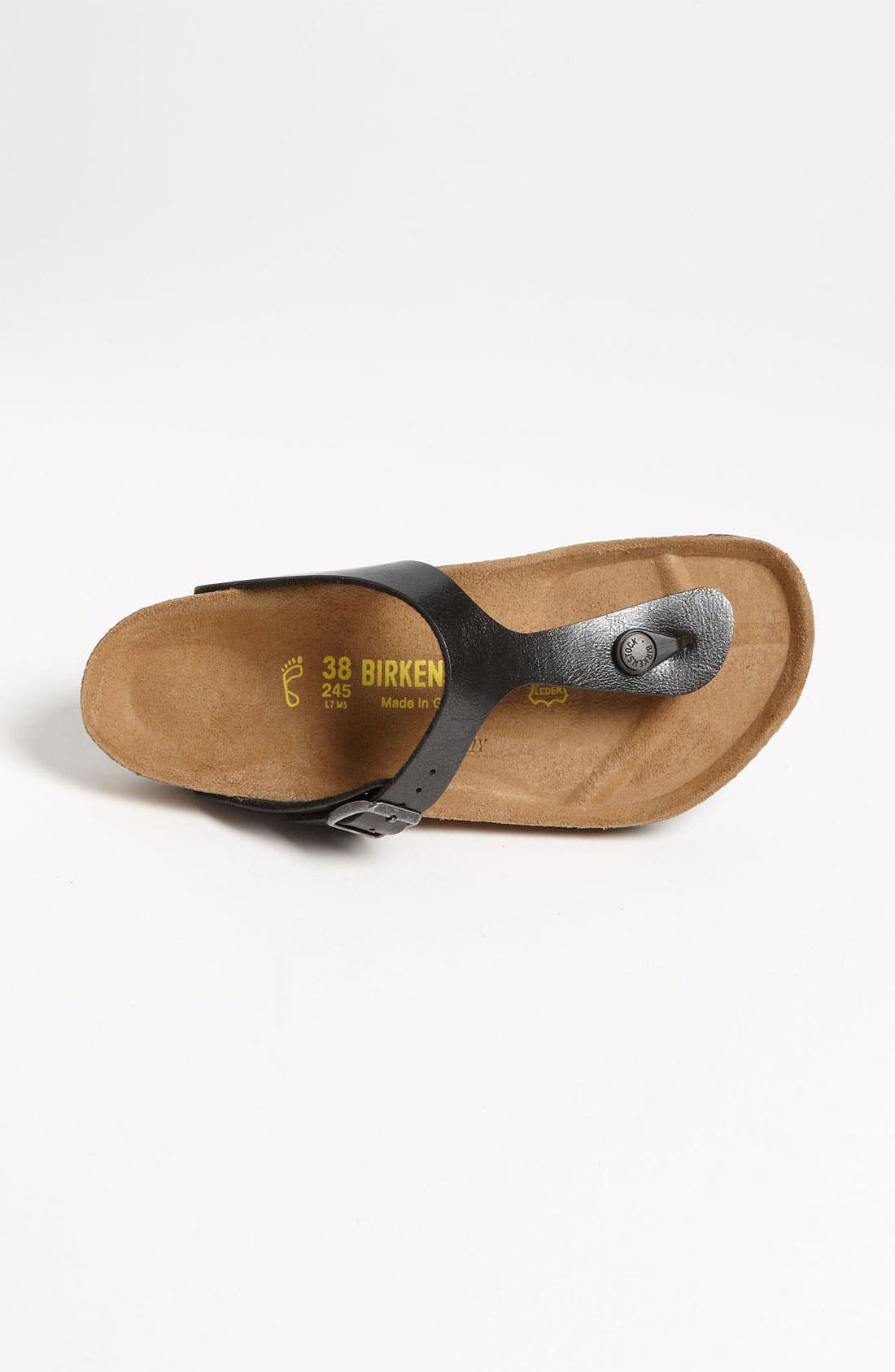 BIRKENSTOCK,                             Gizeh Birko-Flor<sup>™</sup> Thong,                             Alternate thumbnail 8, color,                             LICORICE