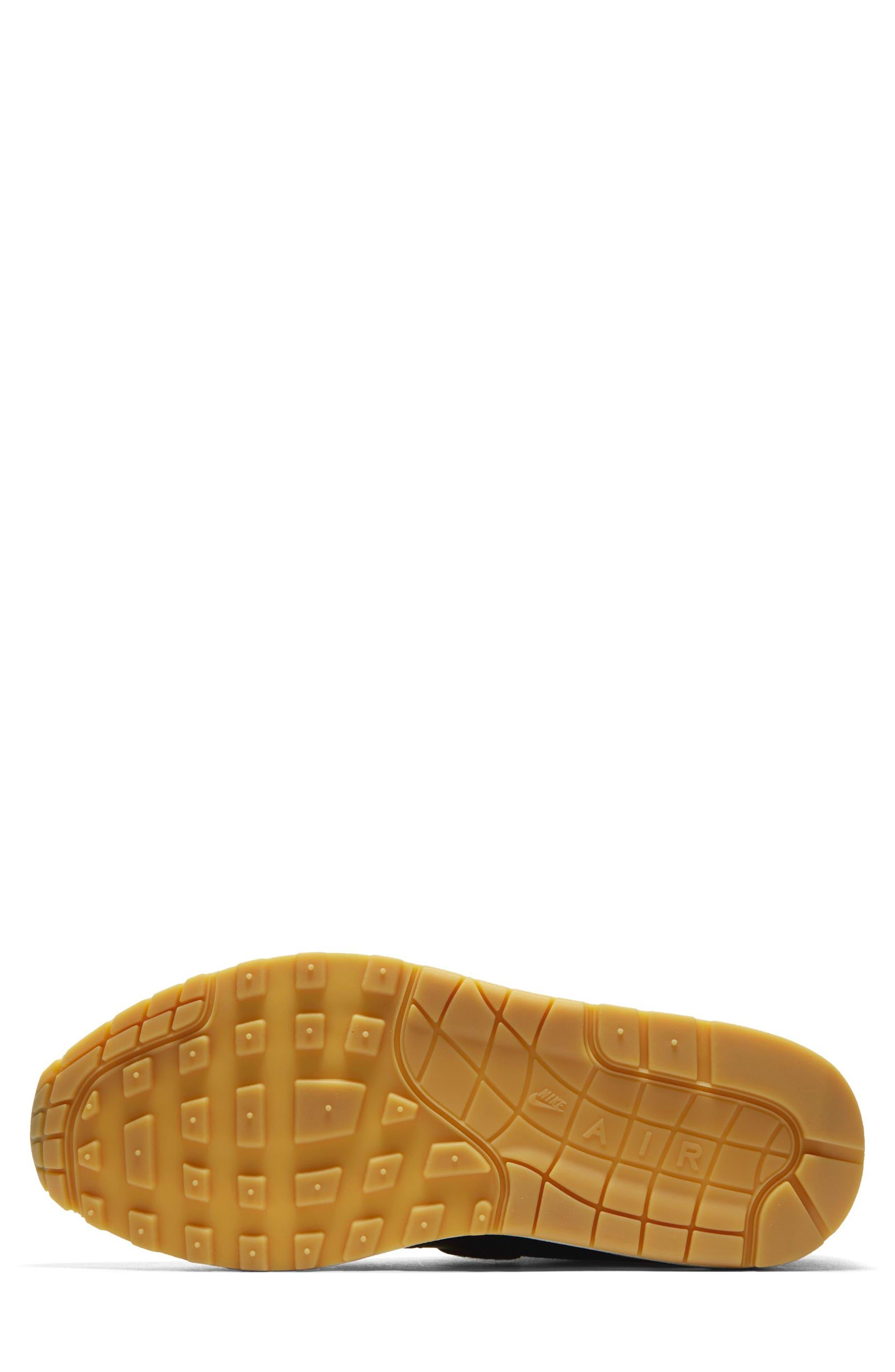 Air Max 1 Premium Sneaker,                             Alternate thumbnail 5, color,                             GREY