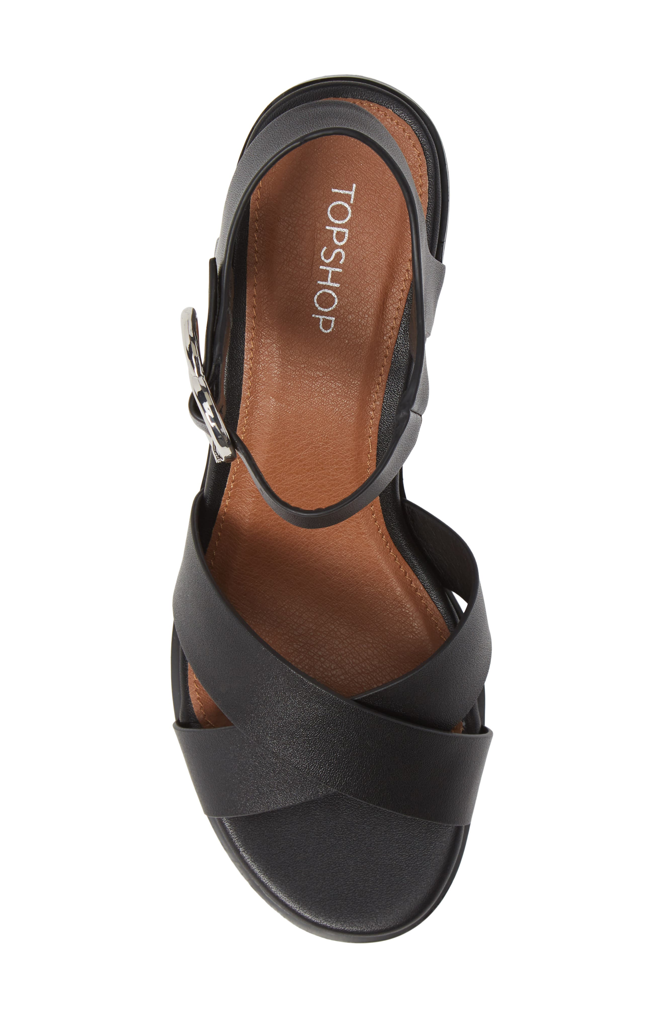 Deedee Block Heel Sandal,                             Alternate thumbnail 5, color,                             001