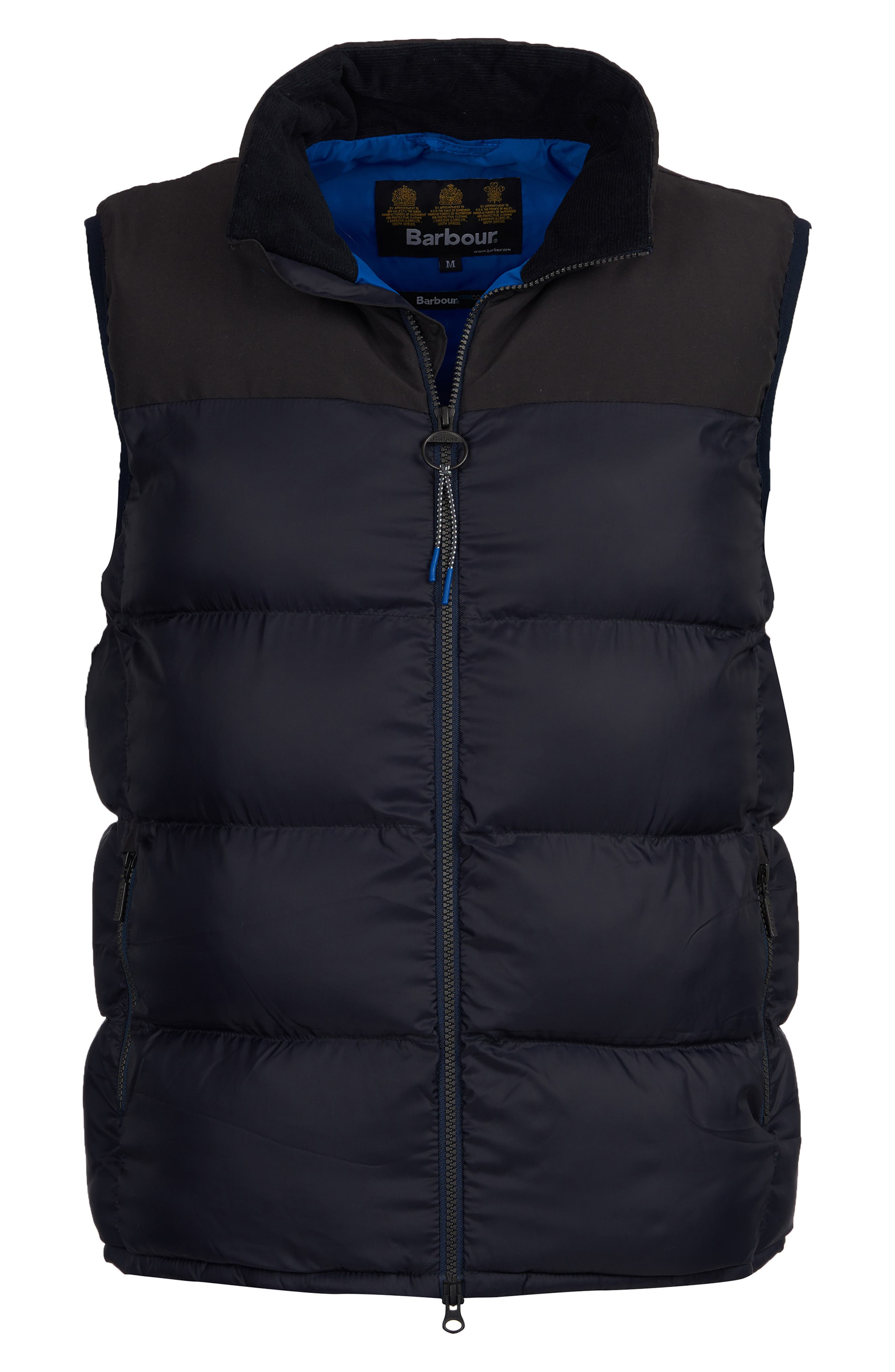BARBOUR,                             Blank Quilted Vest,                             Alternate thumbnail 3, color,                             NAVY