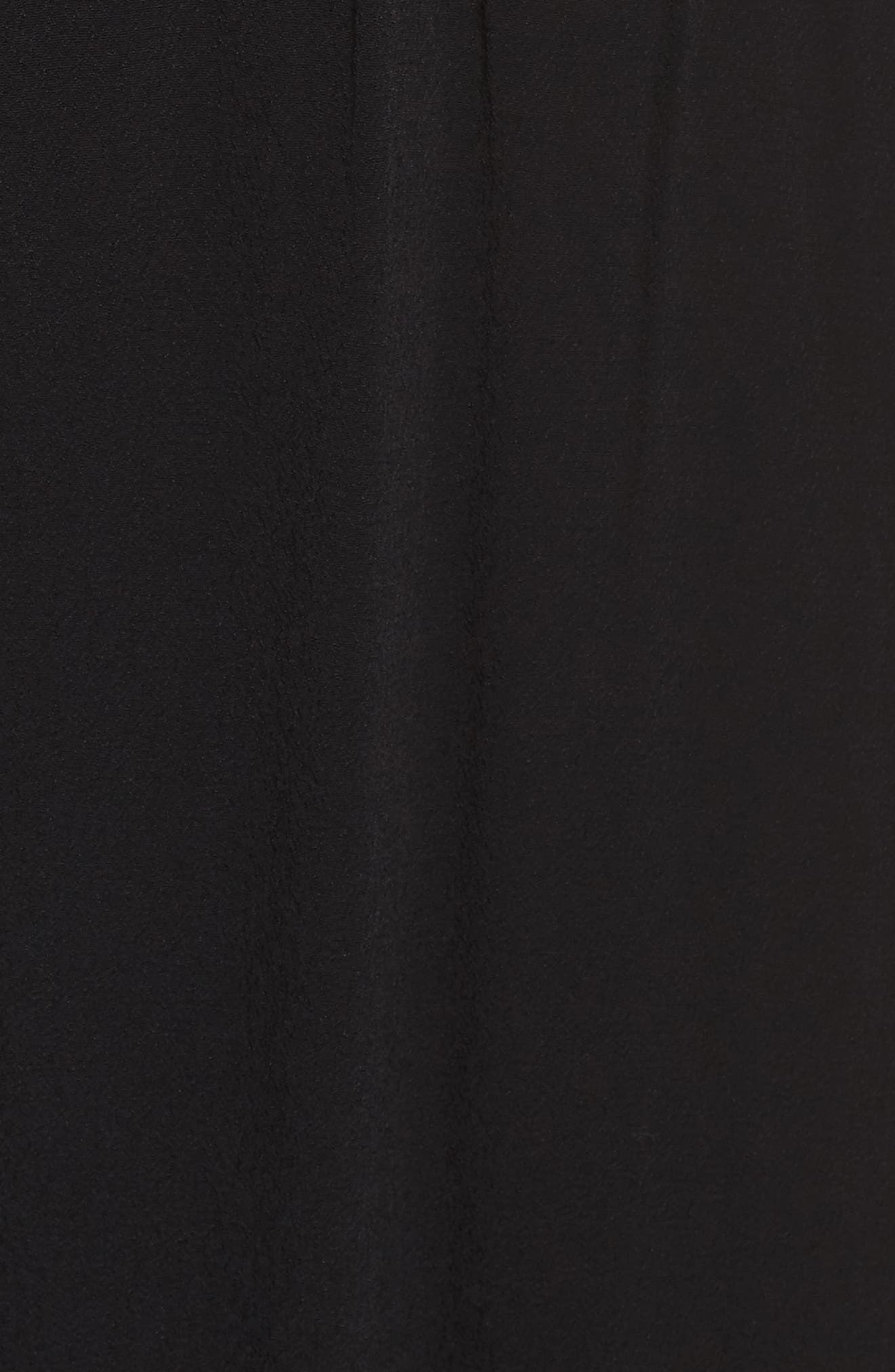 Blouson Maxi Dress,                             Alternate thumbnail 5, color,                             BLACK