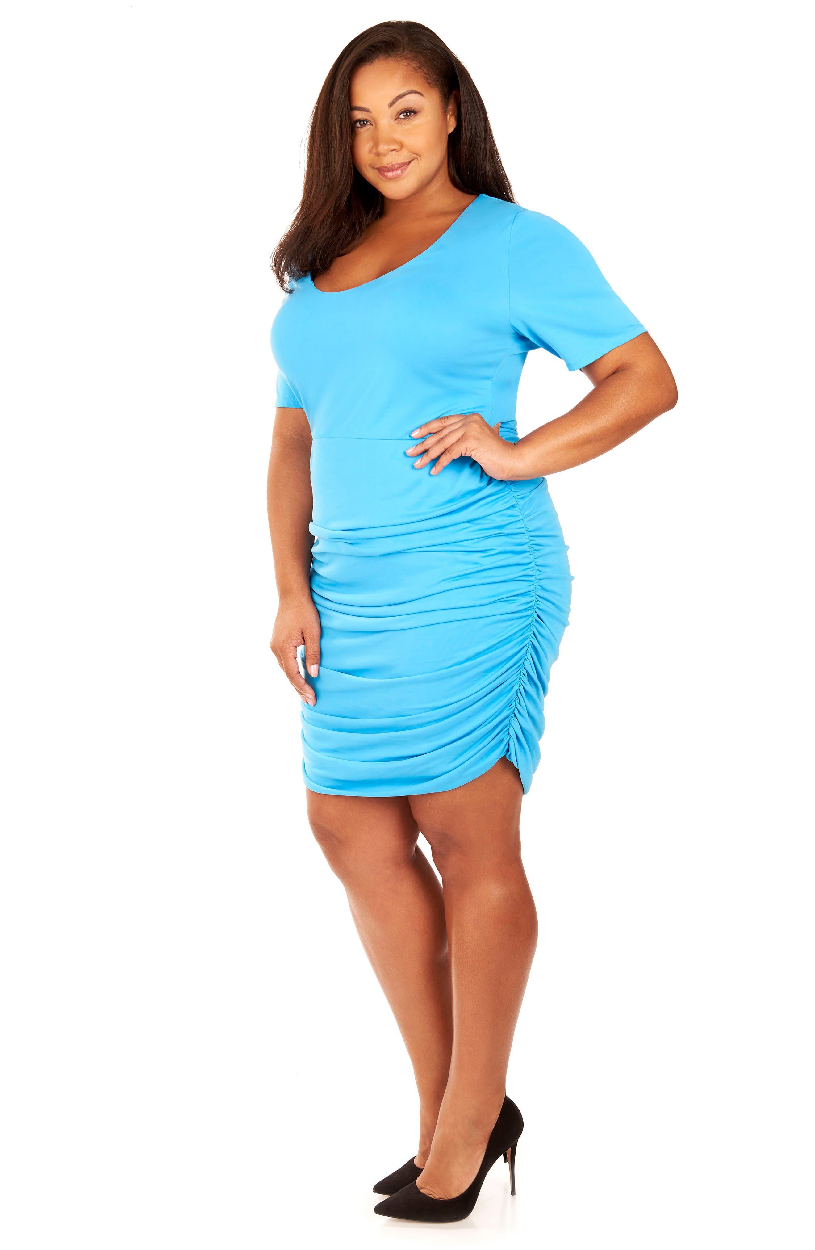 Ruched Sandwashed Jersey Dress,                             Alternate thumbnail 6, color,