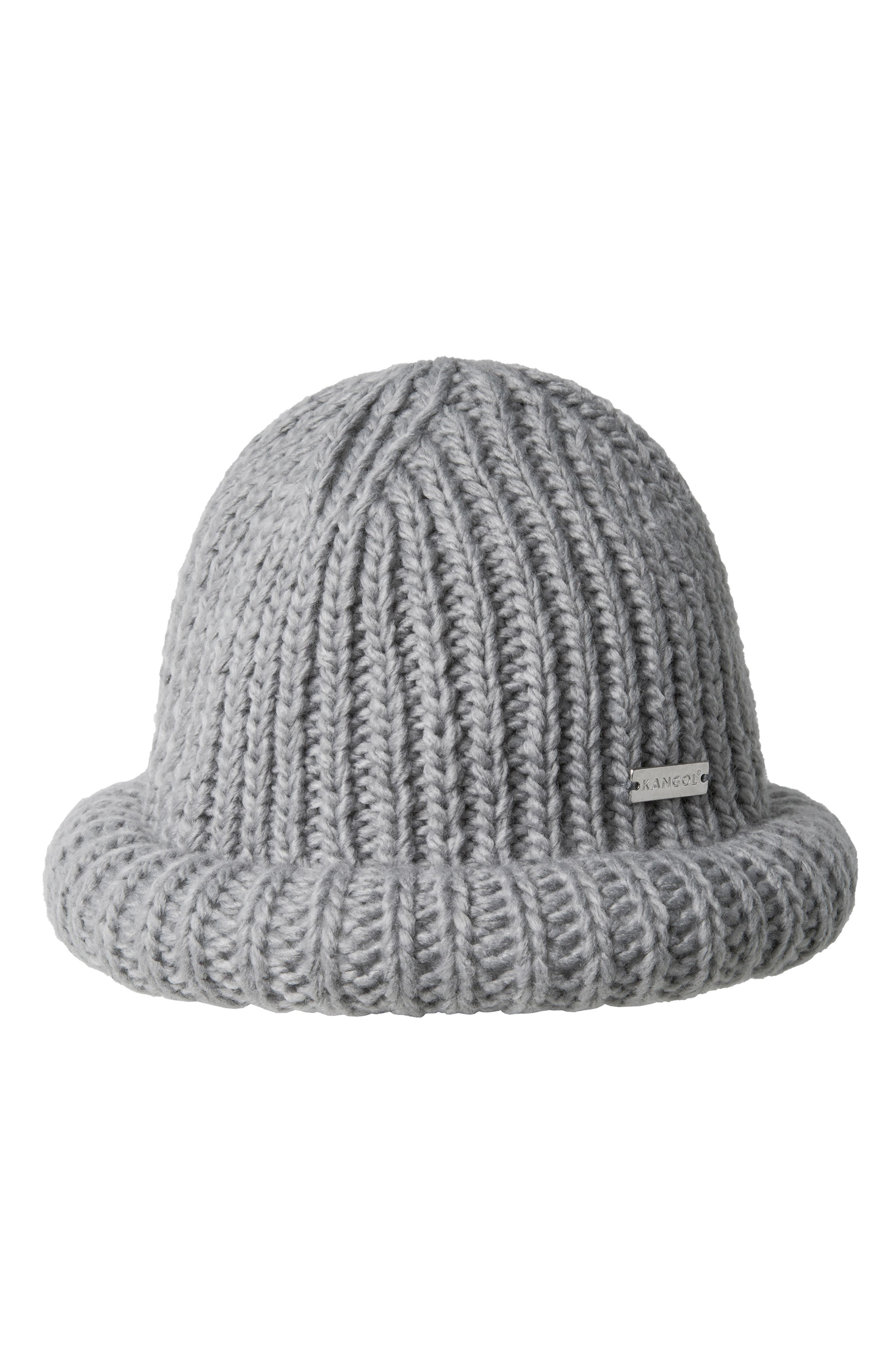 Rolled Beanie,                             Main thumbnail 1, color,                             GREY
